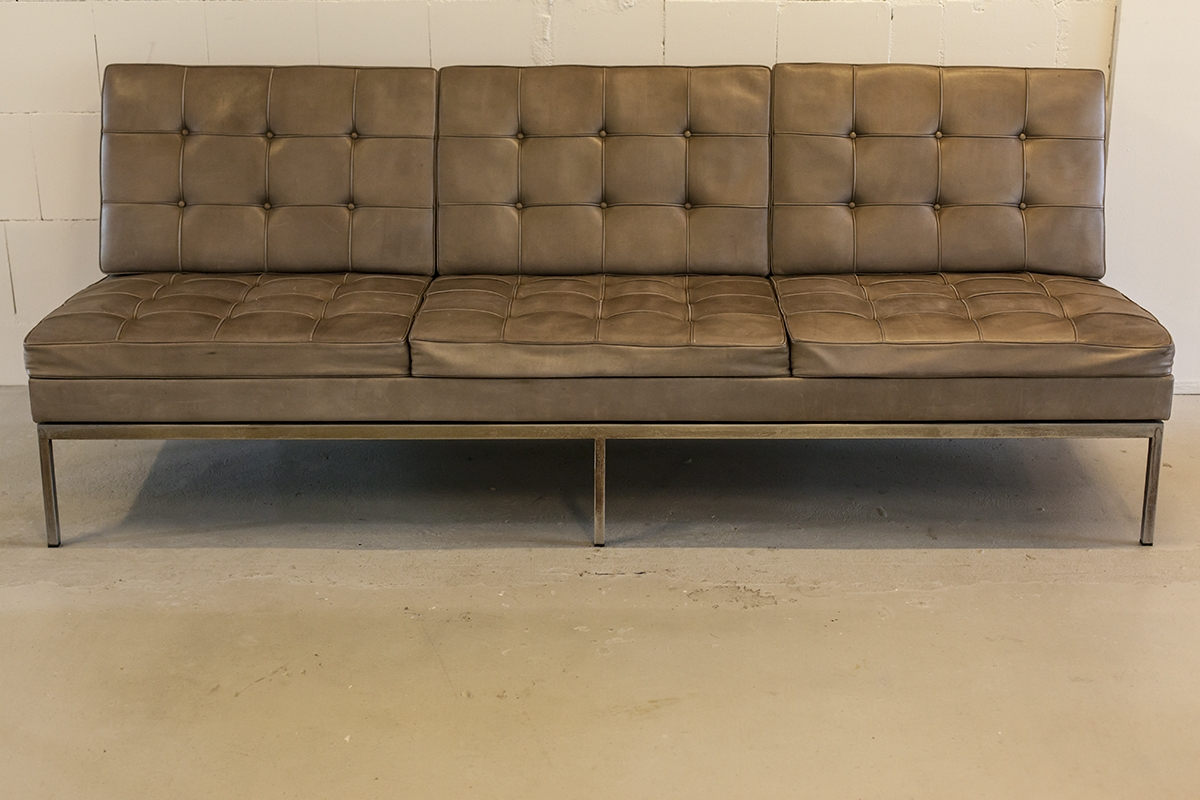 Florence Knoll Leather Sofa Modern Sofas Within Florence Knoll Leather Sofas (View 13 of 15)