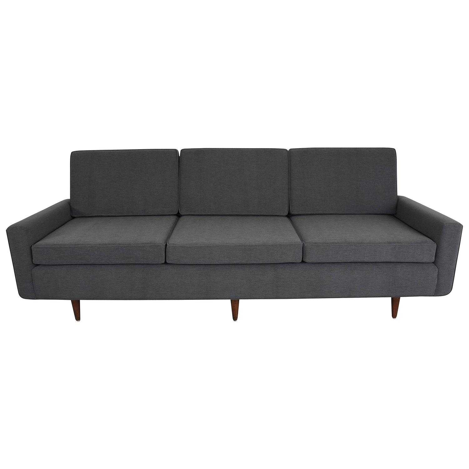 Florence Knoll Sofa Three Seat Sofa Model 26 Pair Available For Intended For Florence Knoll Leather Sofas (Image 4 of 15)