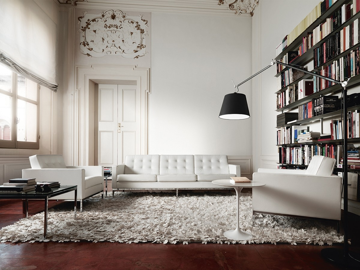 Florence Knoll Sofa With 3 Seater Porch Living Room With Regard To Florence Knoll Living Room Sofas (Image 10 of 15)