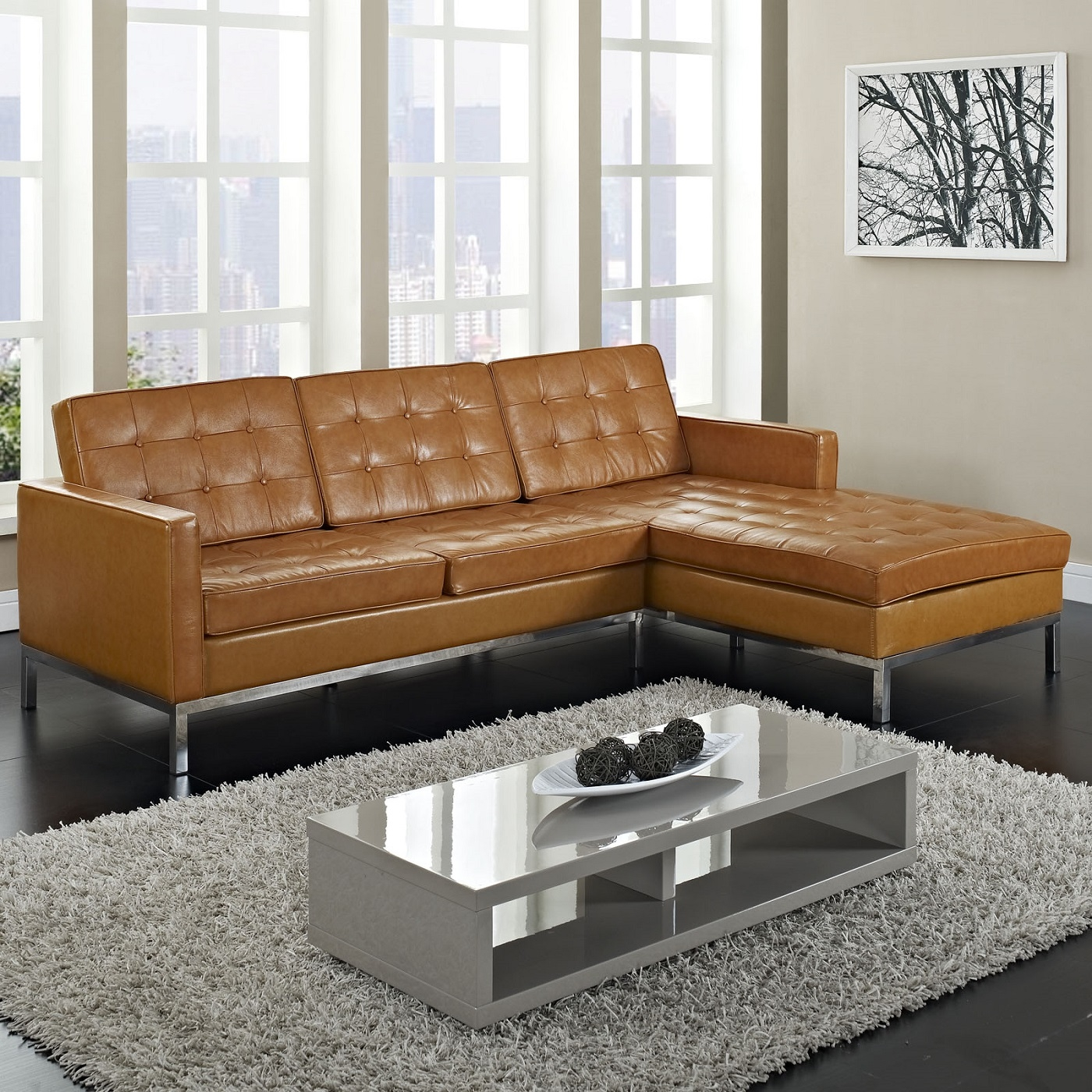 Florence Knoll Style Corner Sofa River Academy In Florence Knoll  Wood Legs Sofas (Image 14 of 15)