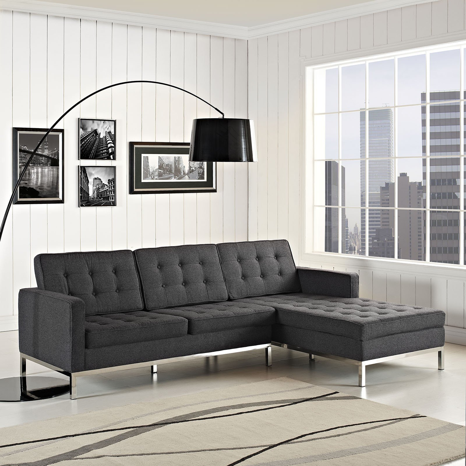 Best Florence Knoll Style Sectional Sofa Modern Sofas Throughout Florence  Knoll Style Sofas Image Of With Brostuhl Modern