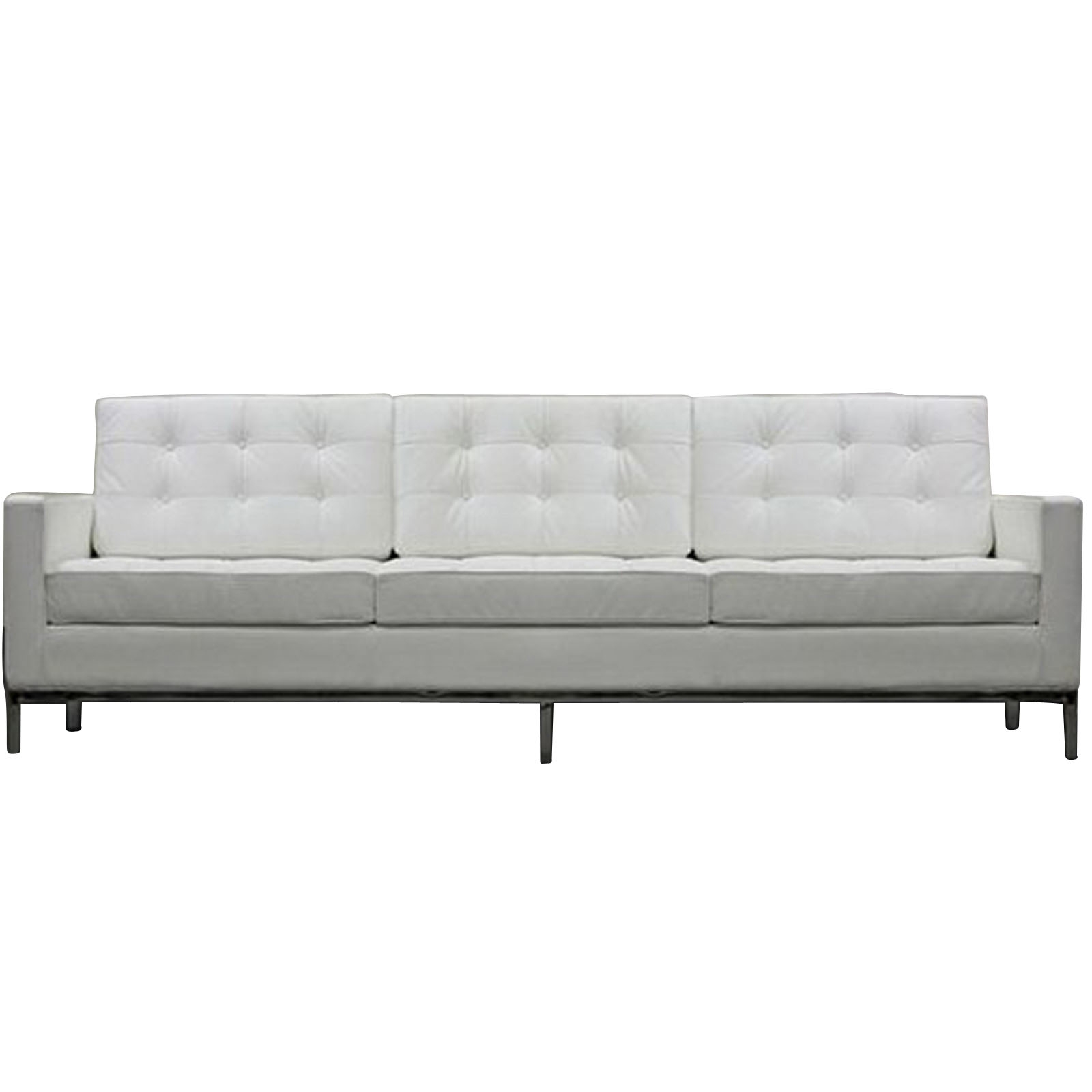 Florence Knoll Style Sofa Couch Leather For Florence Knoll Leather Sofas (View 10 of 15)