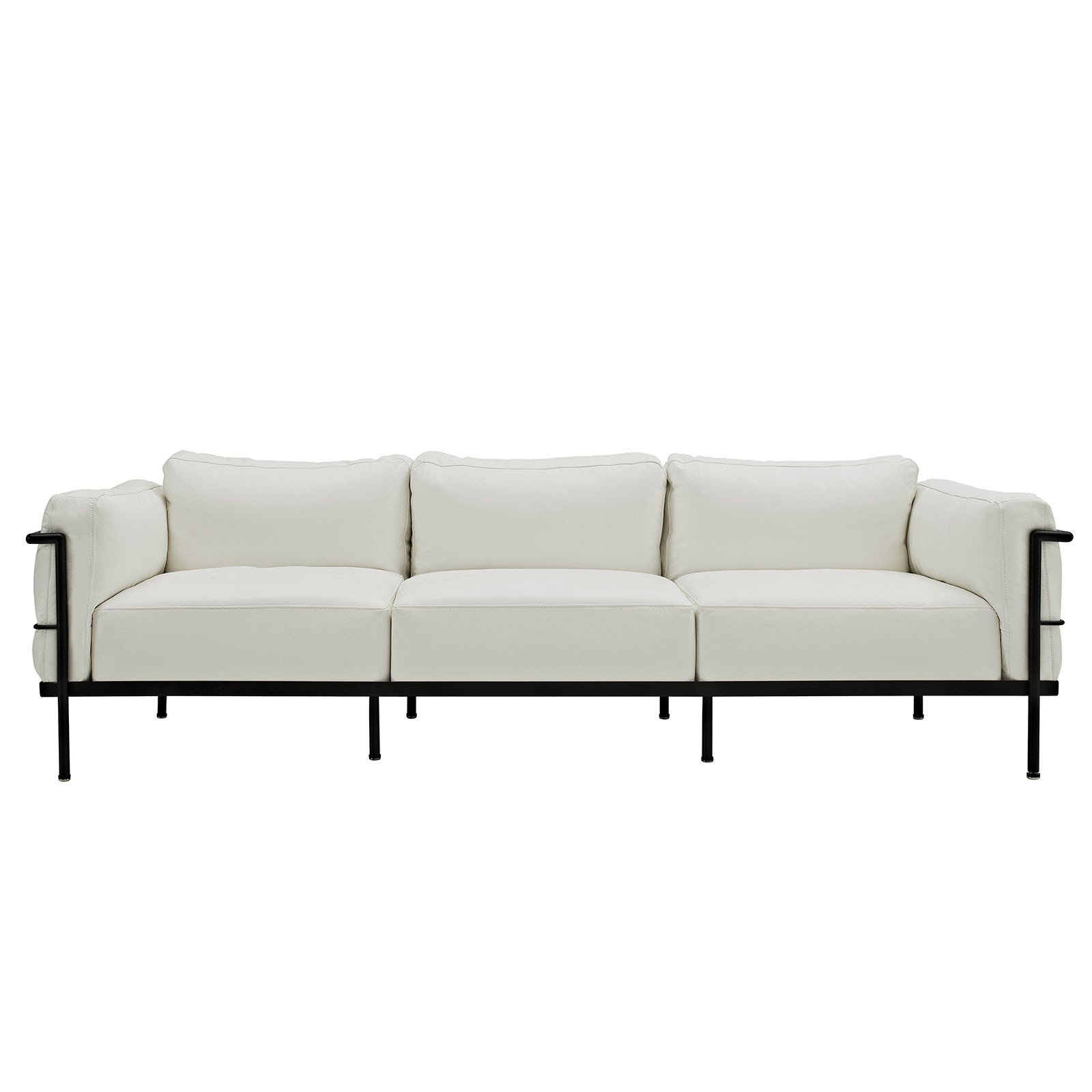 Florence Knoll Style Sofa In Leather Multiple Colorsmaterials For Florence Grand Sofas (Image 10 of 15)