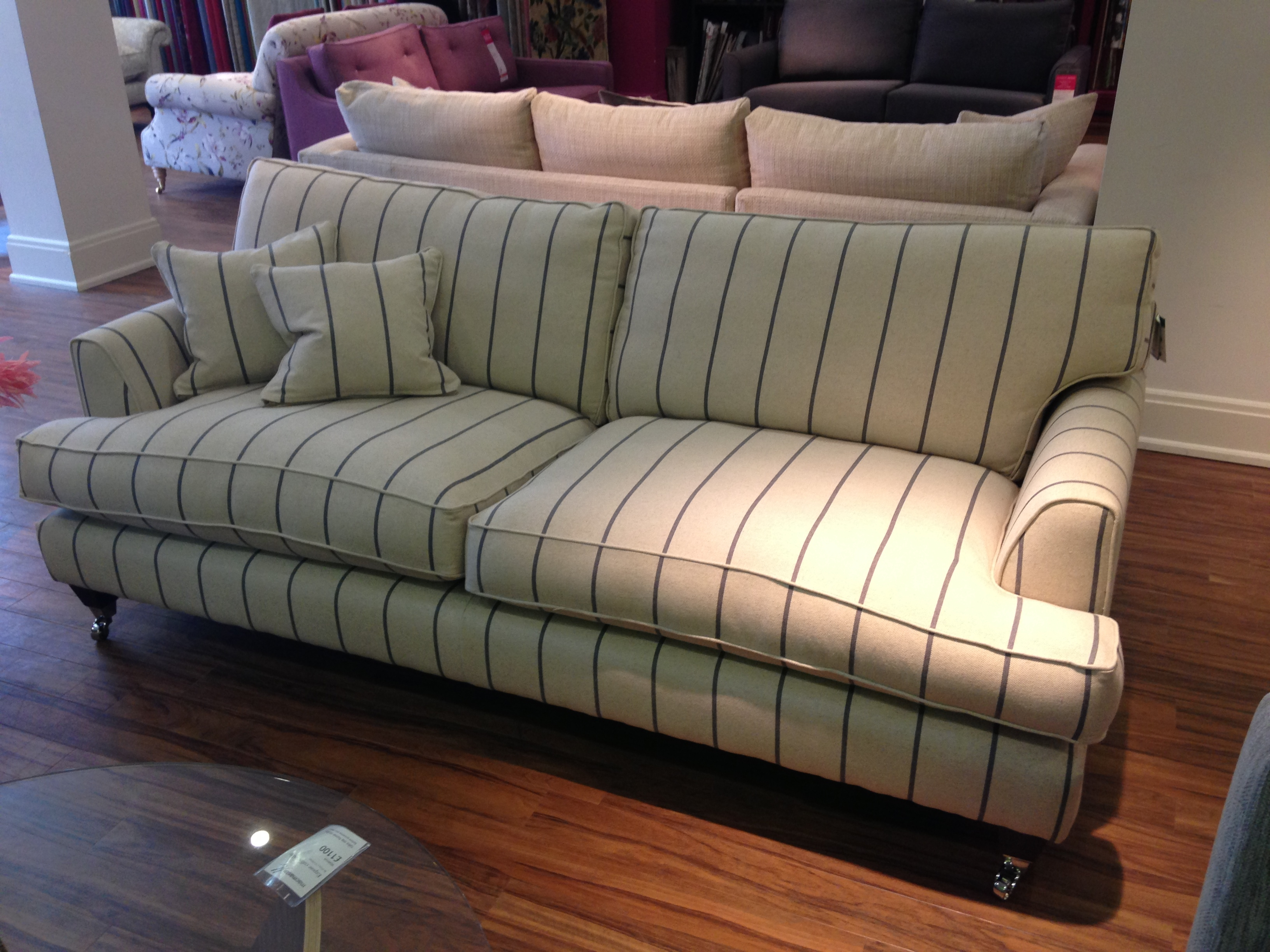 Florence Large Sofa In Heron Stripe Httpwwwsofaworkshop In Florence Grand Sofas (Image 11 of 15)