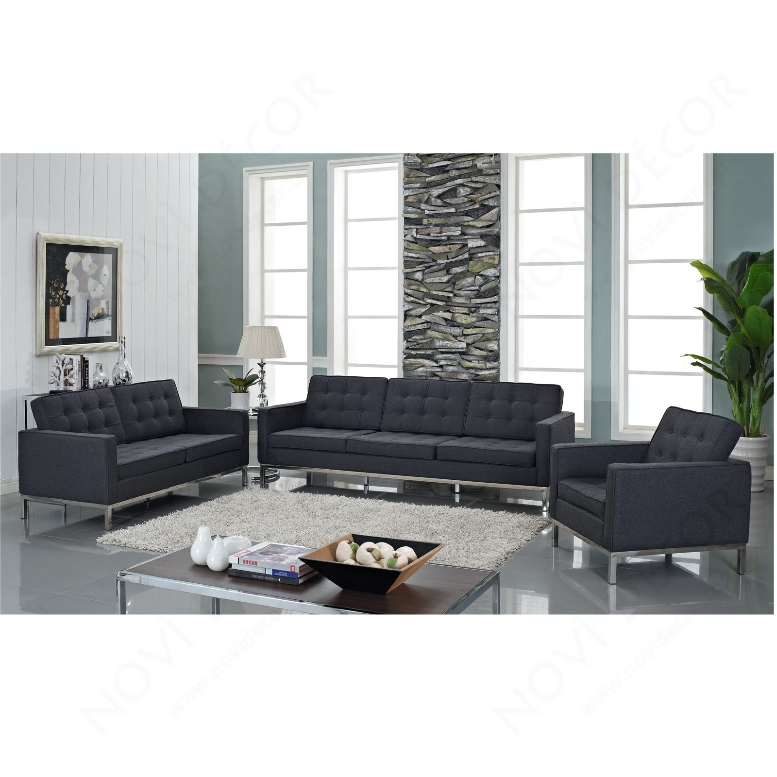 Florence Style Sofa In Wool Multiple Colors Designer Reproduction Pertaining To Florence Sofas (Image 7 of 15)