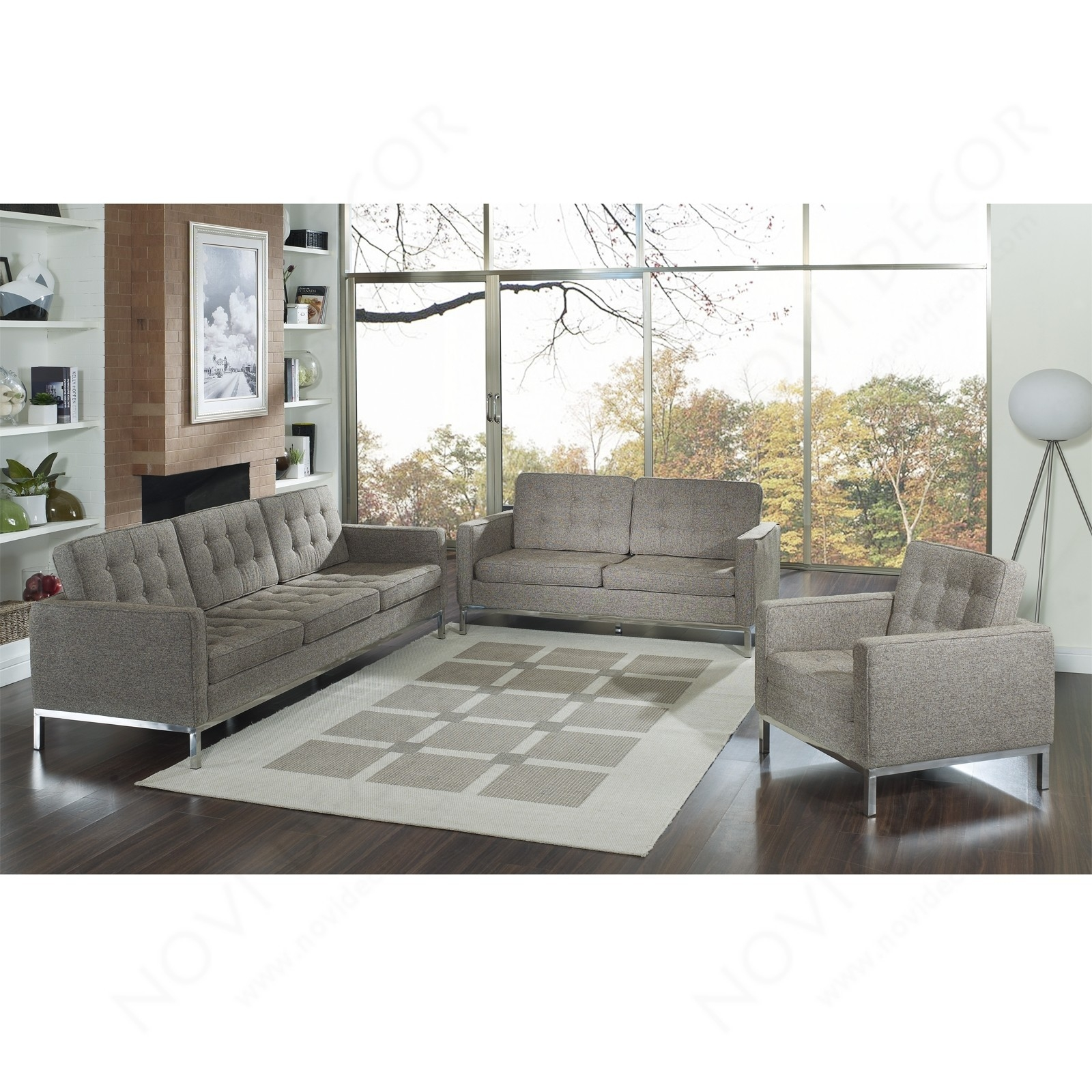 Florence Style Sofa In Wool Multiple Colors Designer Reproduction Regarding Florence Sofas (Image 8 of 15)