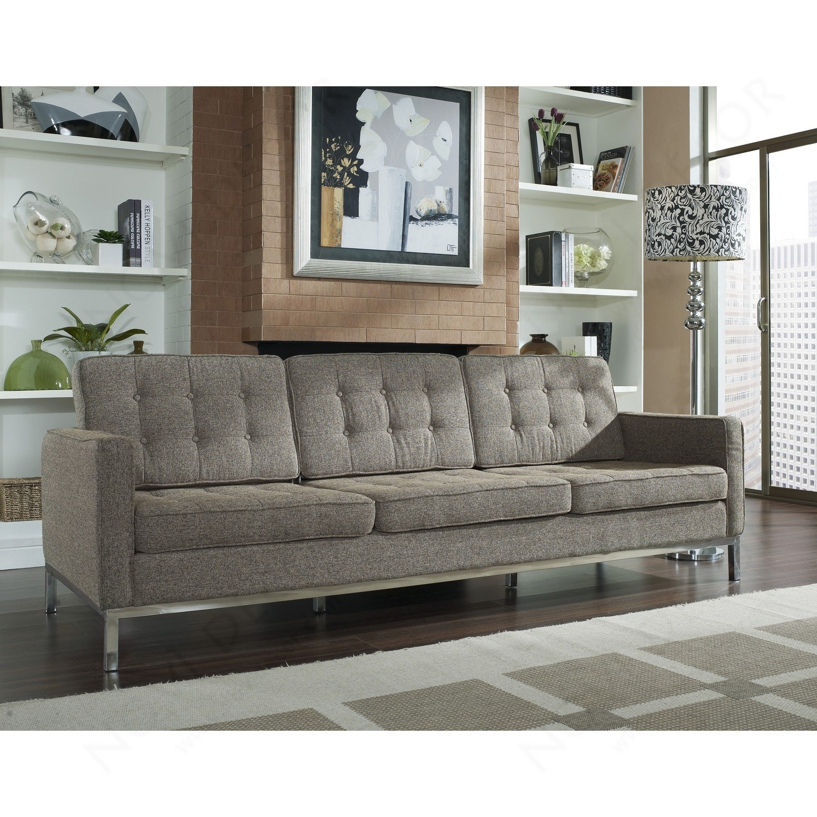 Florence Style Sofa In Wool Multiple Colors Designer Reproduction Throughout Florence Large Sofas (Image 8 of 15)