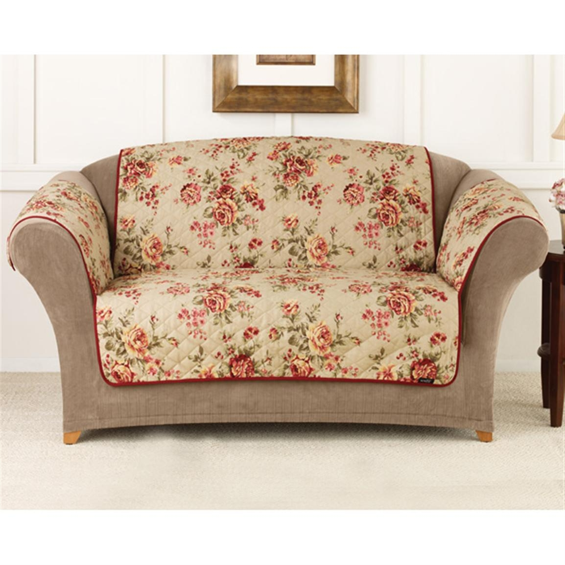 Flower Print Sofa 1970 Floral Sofa Flower Print Couch Suzy Q Within Chintz Sofa Covers (Photo 5 of 15)
