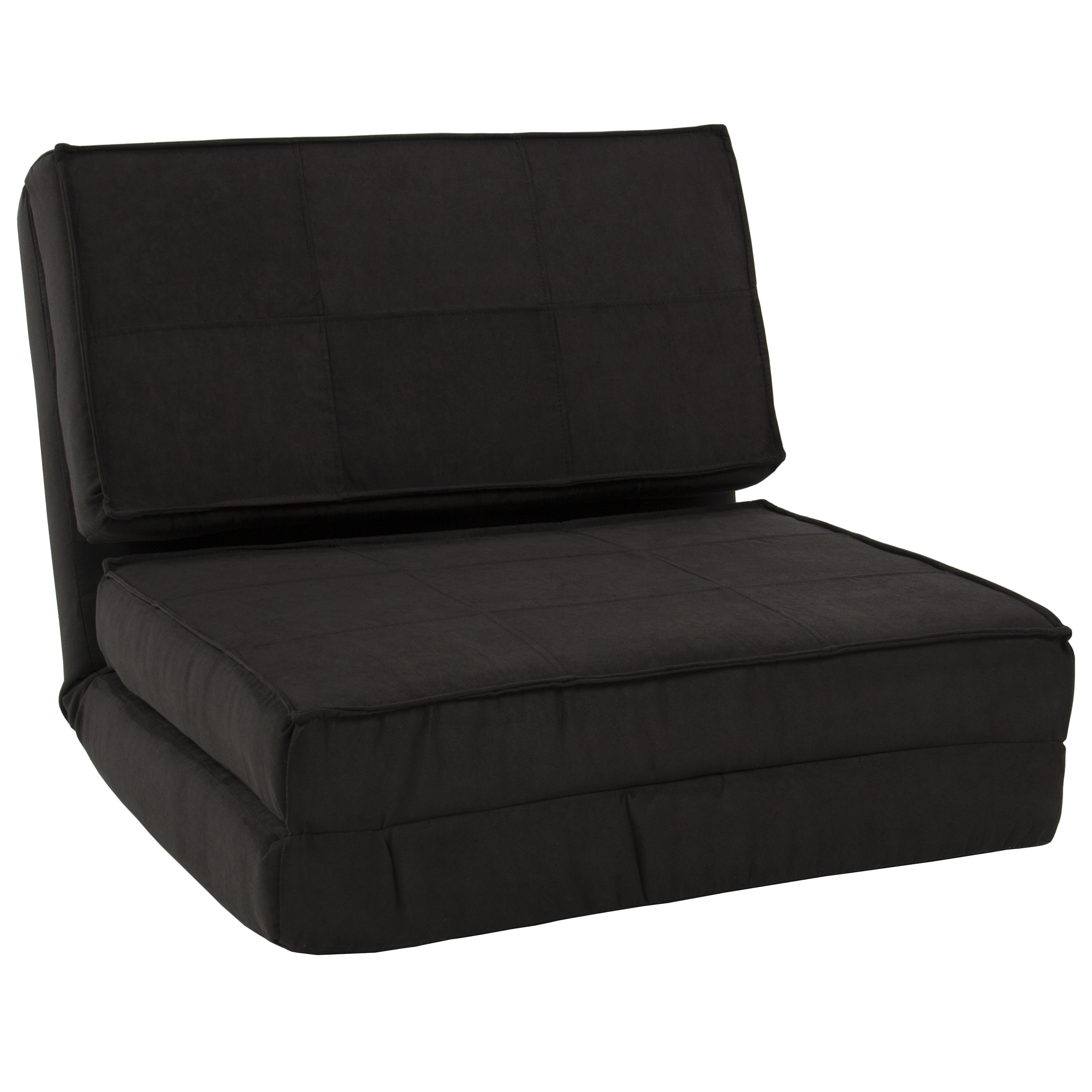 Fold Down Chair Flip Out Lounger Convertible Sleeper Bed Couch In Convertible Sofa Chair Bed (Image 4 of 15)