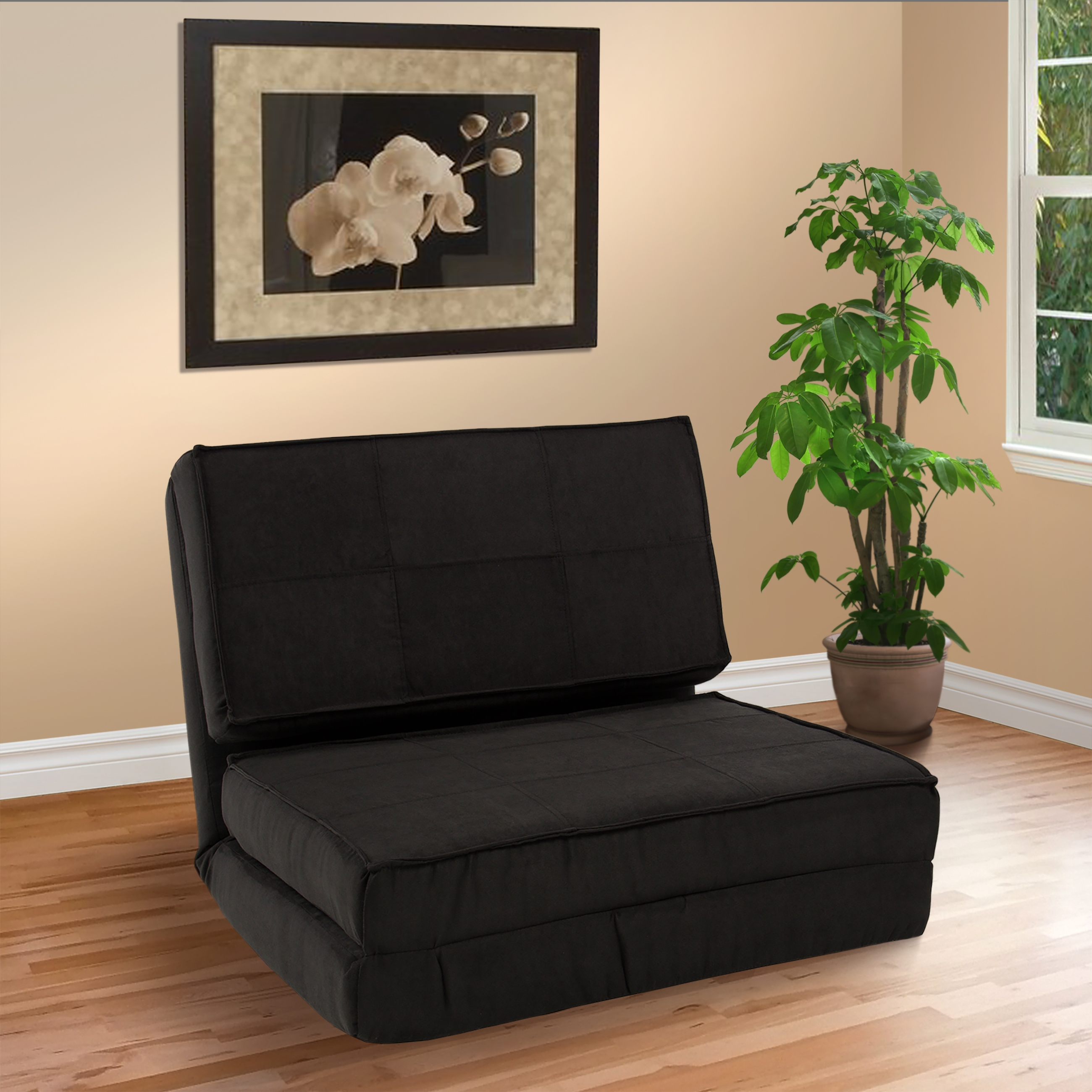 Fold Down Chair Flip Out Lounger Convertible Sleeper Bed Couch Throughout Convertible Sofa Chair Bed (Image 5 of 15)