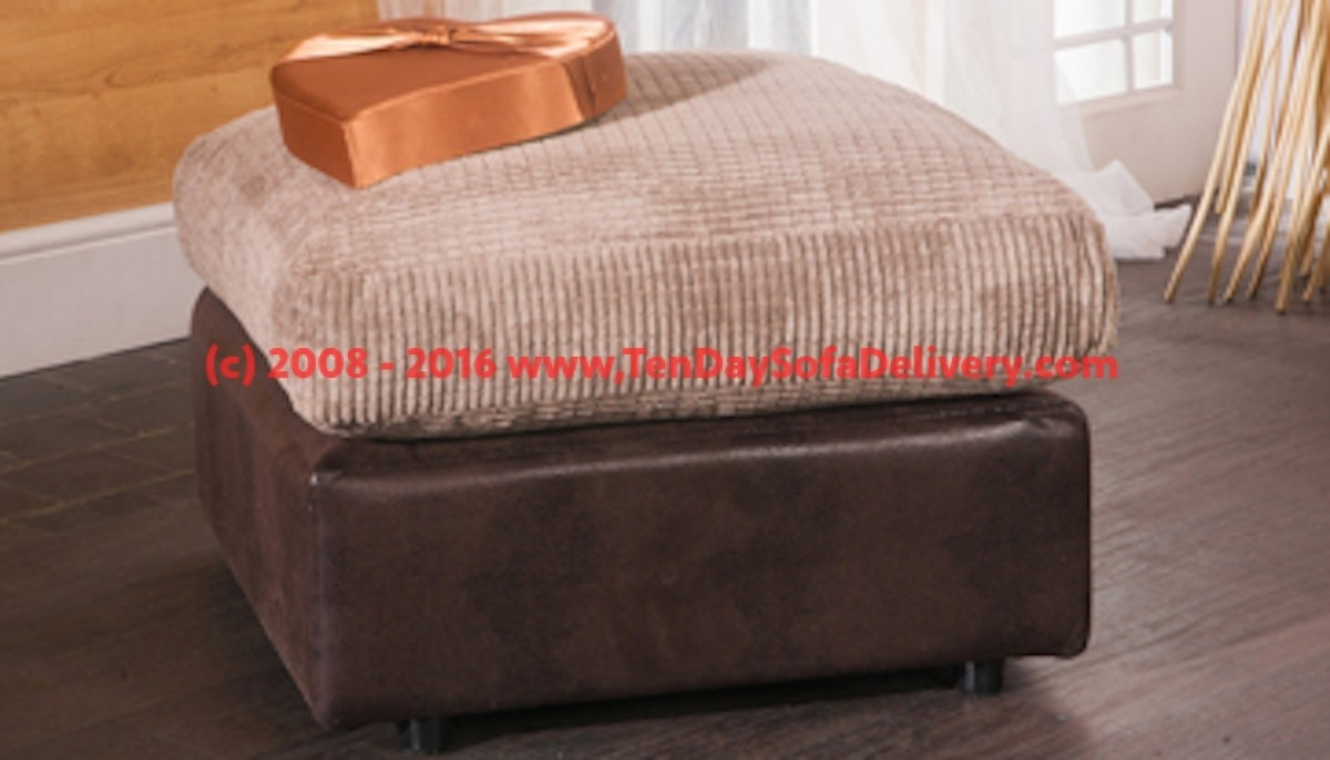 Footstools And Pouffees Ten Day Sofa Delivery Regarding Fabric Footstools And Pouffes (Image 6 of 15)