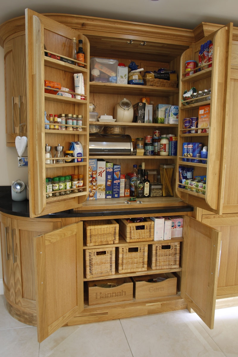 Free Standing Larder Cupboards Olivers Kitchens Ltd Regarding Free Standing Kitchen Larder Cupboards (View 11 of 25)