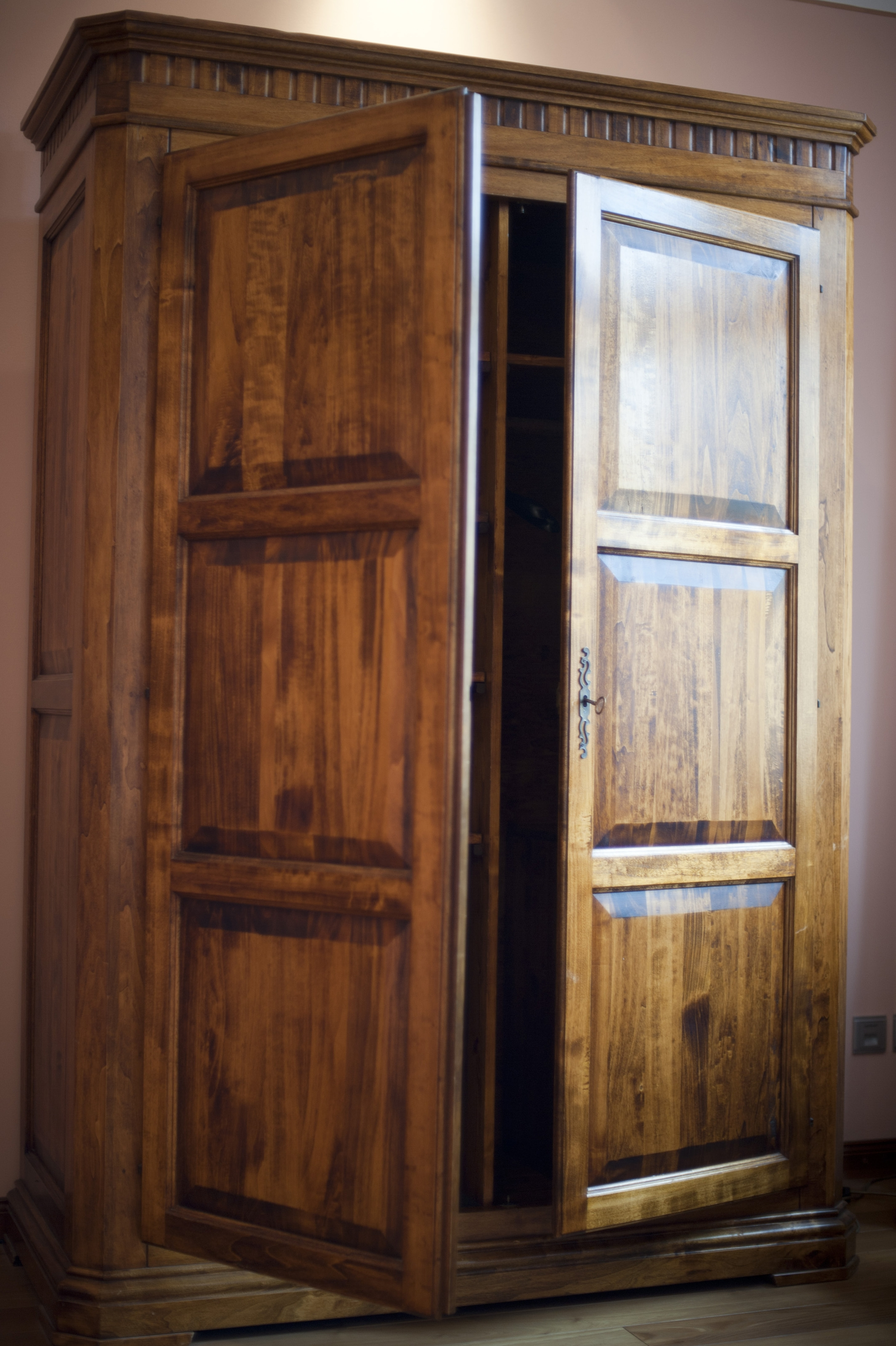Free Stock Photo 8912 Rustic Wooden Wardrobe Or Armoire Within Large Wooden Wardrobes (Image 14 of 25)