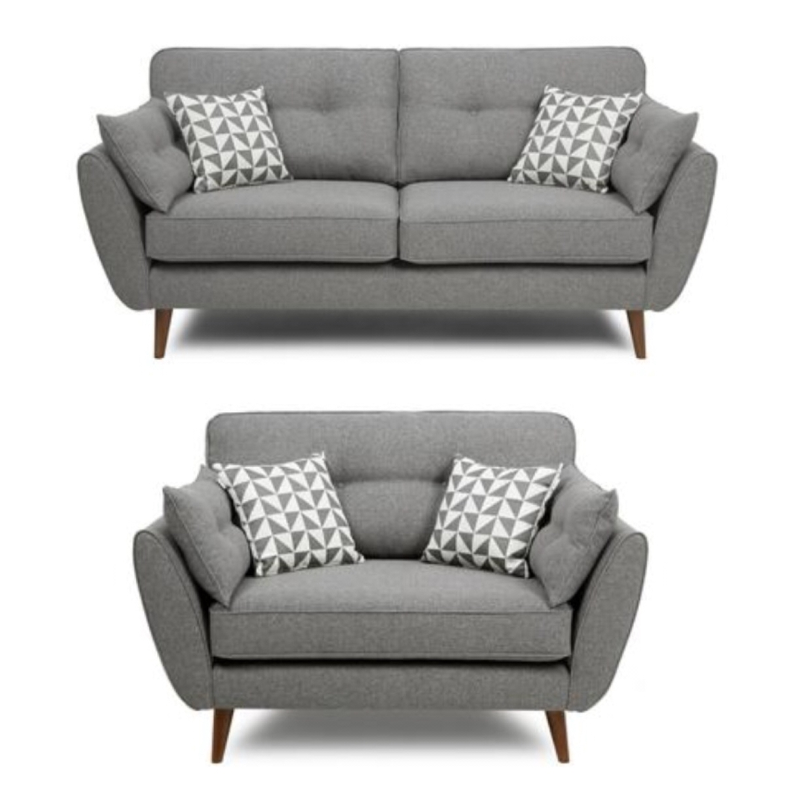 French Connection Grey Sofa And Cuddle Chair Pinteres Within Grey Sofa Chairs (Image 4 of 15)