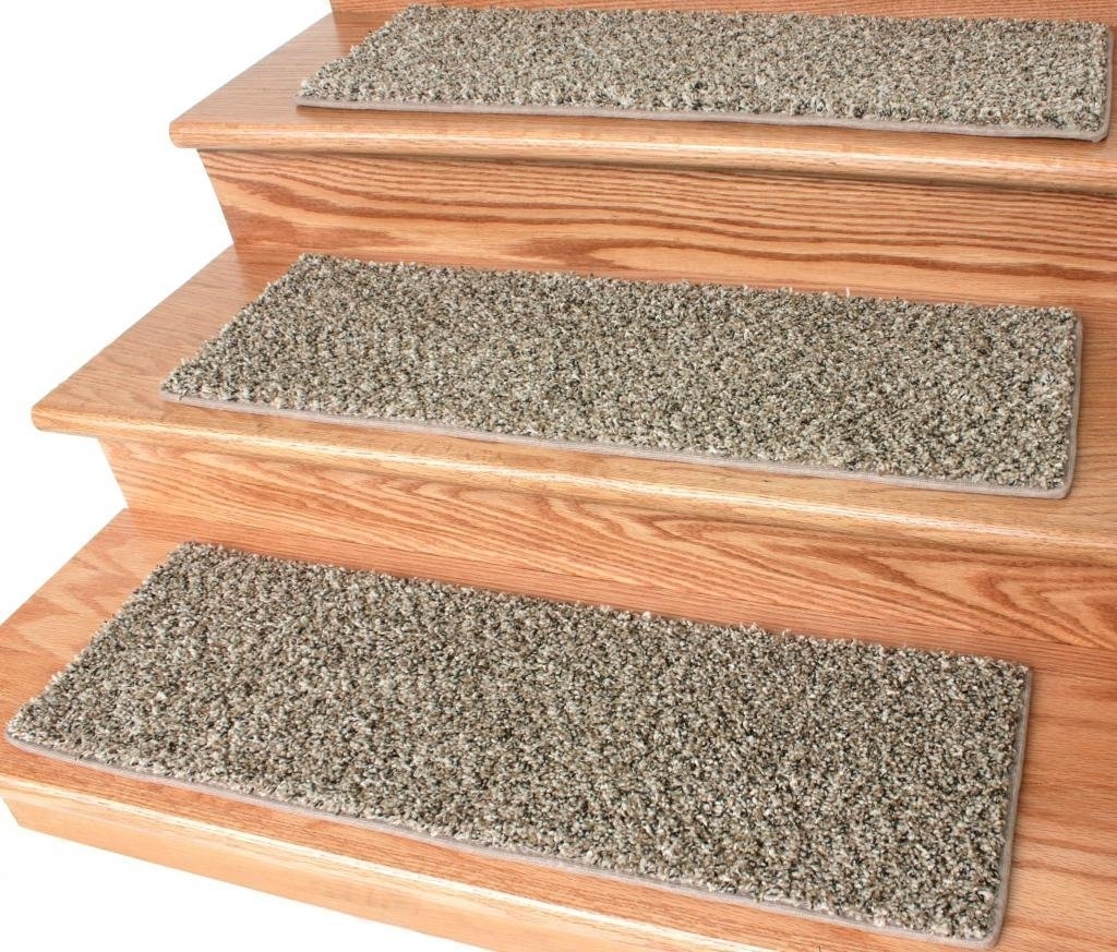 Frieze Stair Treads Within Set Of 13 Stair Tread Rugs (Image 7 of 15)