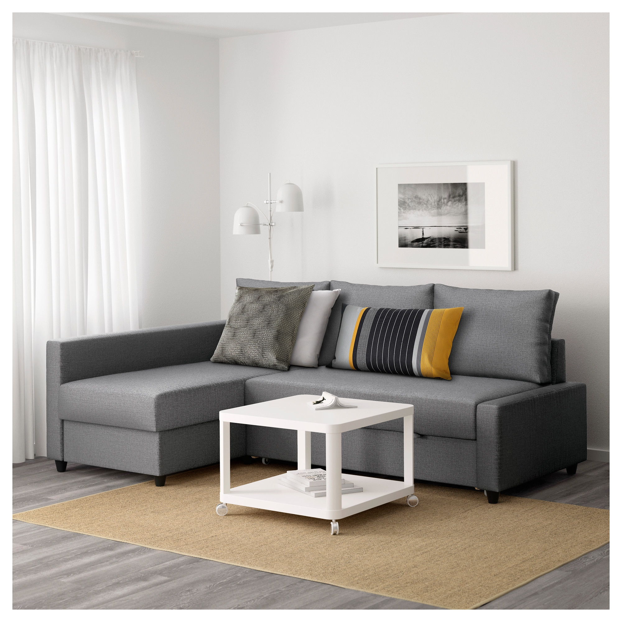 Friheten Corner Sofa Bed With Storage Skiftebo Dark Grey Ikea Throughout Corner Couch Bed (Image 10 of 15)