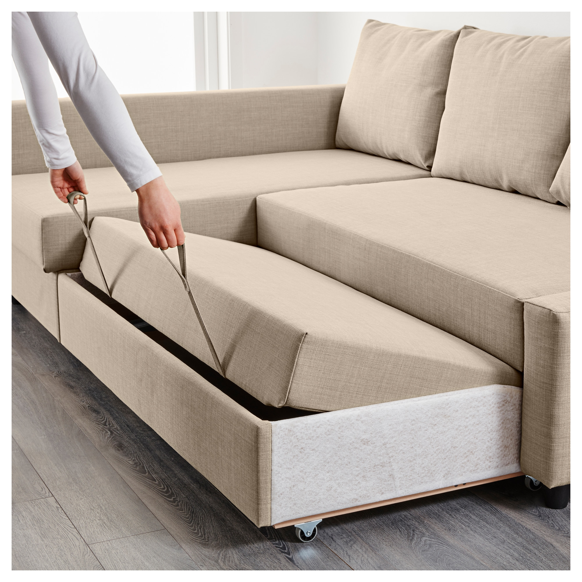 Friheten Corner Sofa Bed With Storage Skiftebo Dark Grey Ikea Throughout Corner Couch Bed (Image 11 of 15)
