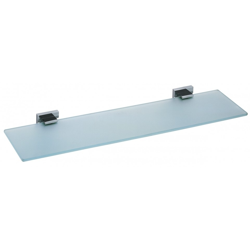 Frosted Glass Shelf 550mm Level Accessories Vado For Frosted Glass Shelves (Image 7 of 15)