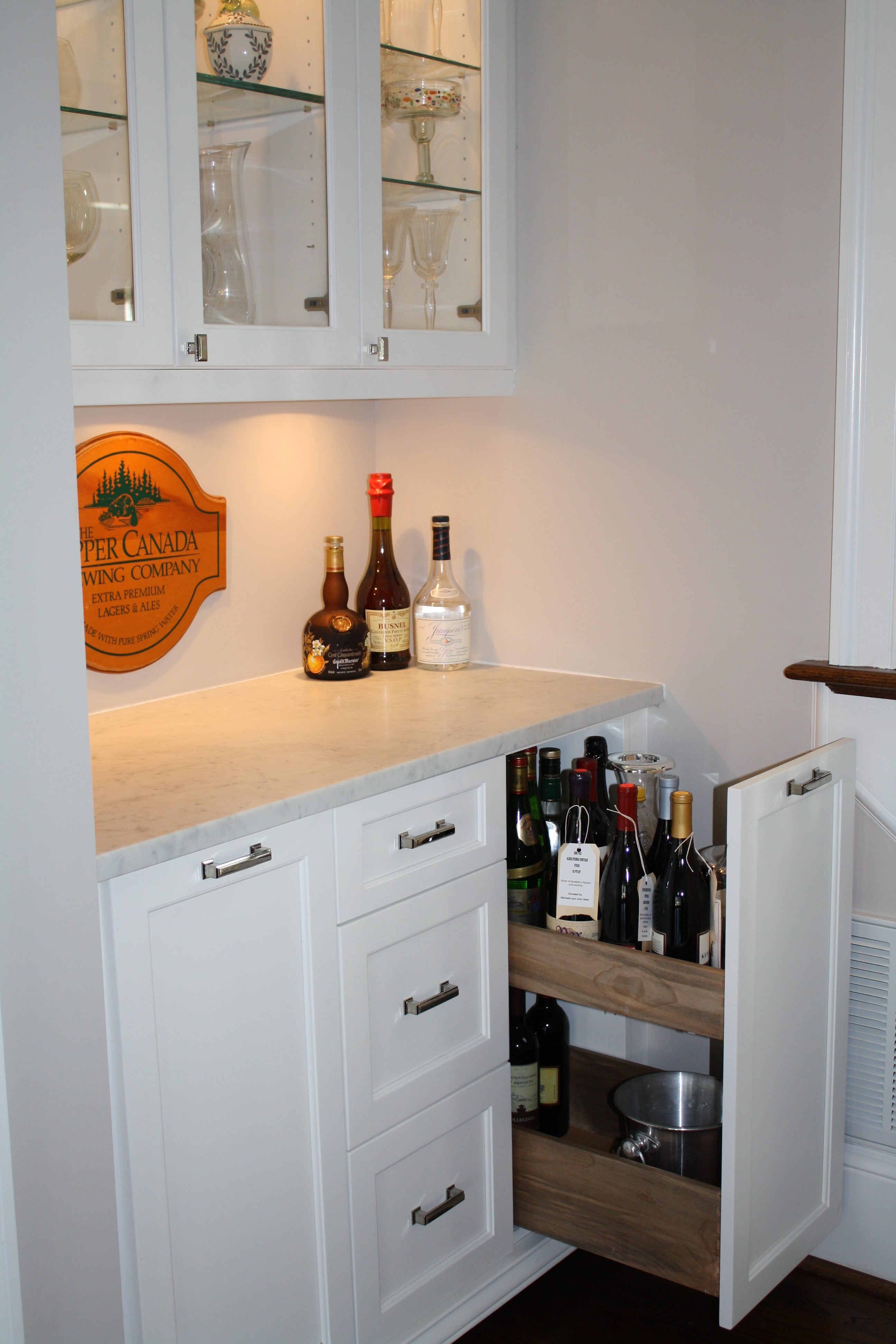 Frosted White Glass Subway Tile Best Liquor Bottles And Cabinet Intended For Glass Shelves For Bar Area (Image 5 of 15)