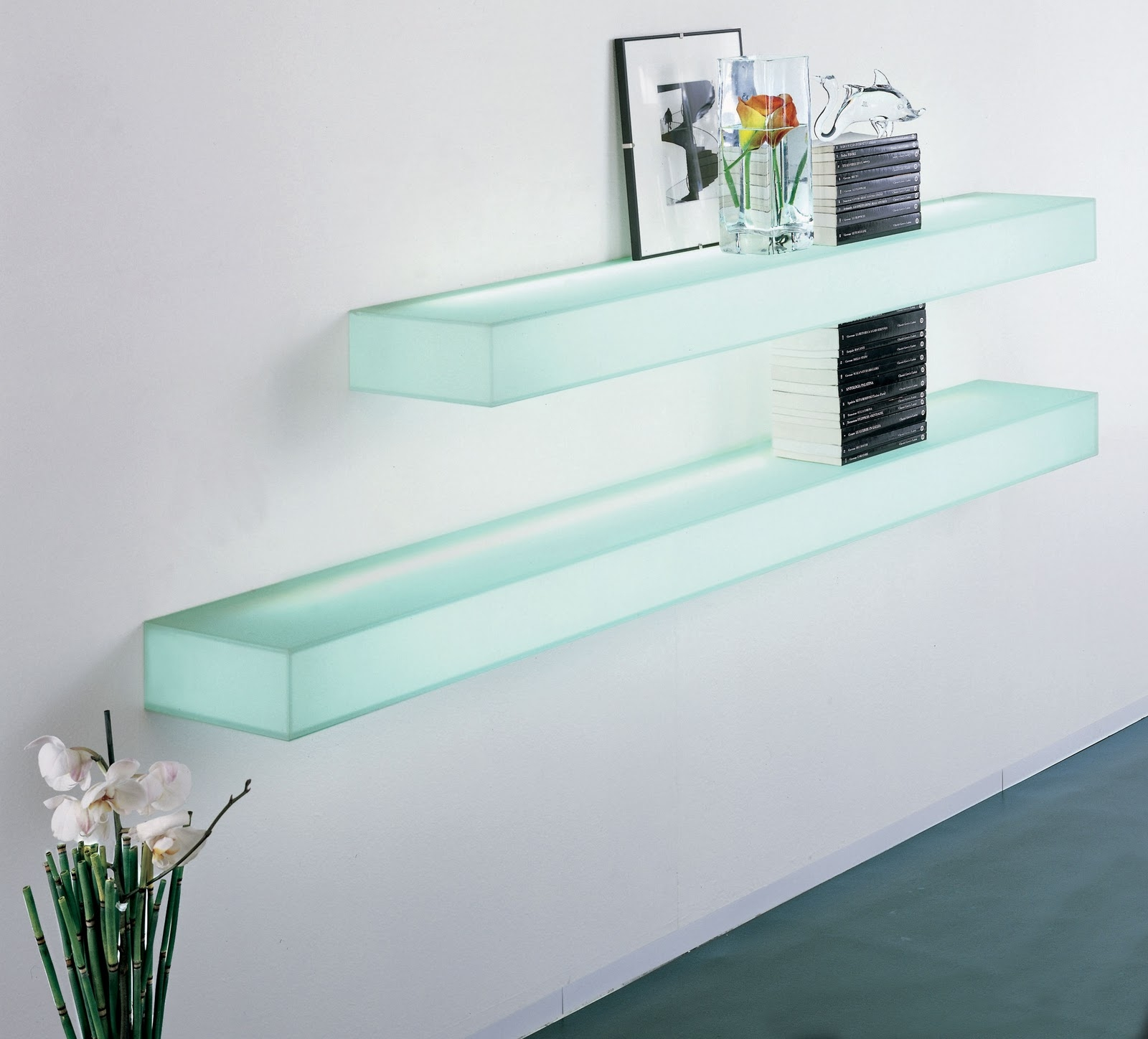 Furniture Awesome Illuminated Glass Bar Shelves Led Shelves W With Regard To Illuminated Glass Shelves (Image 2 of 15)
