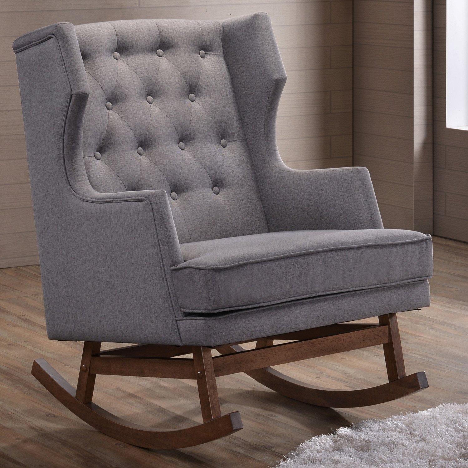 Furniture Beautiful Upholstered Rocking Chair For Home Furniture With Narrow Armchairs (Image 6 of 15)