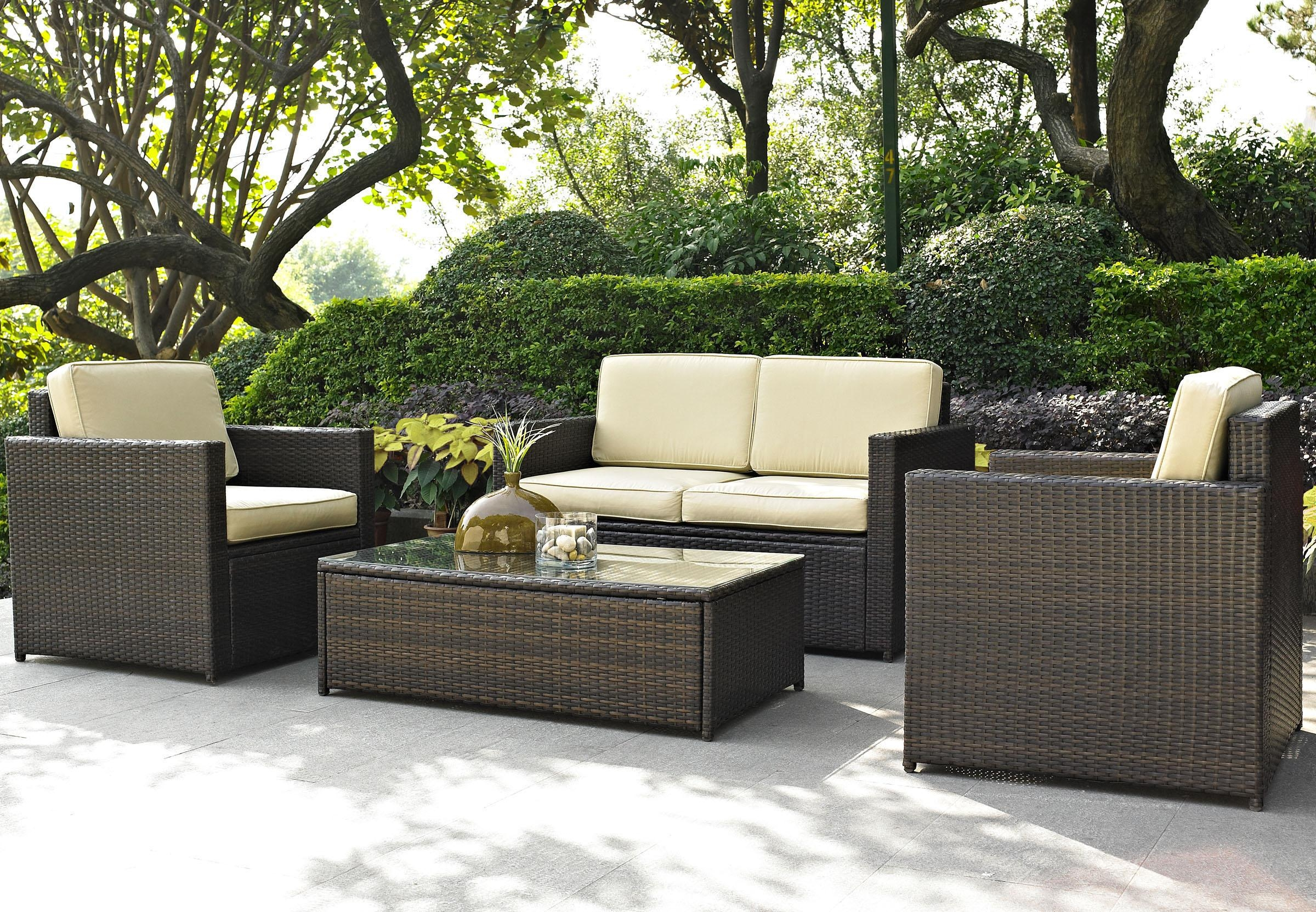 Furniture Comfortable Outdoor Furniture Design With Cozy Walmart With Regard To Outdoor Sofas And Chairs (Image 6 of 15)