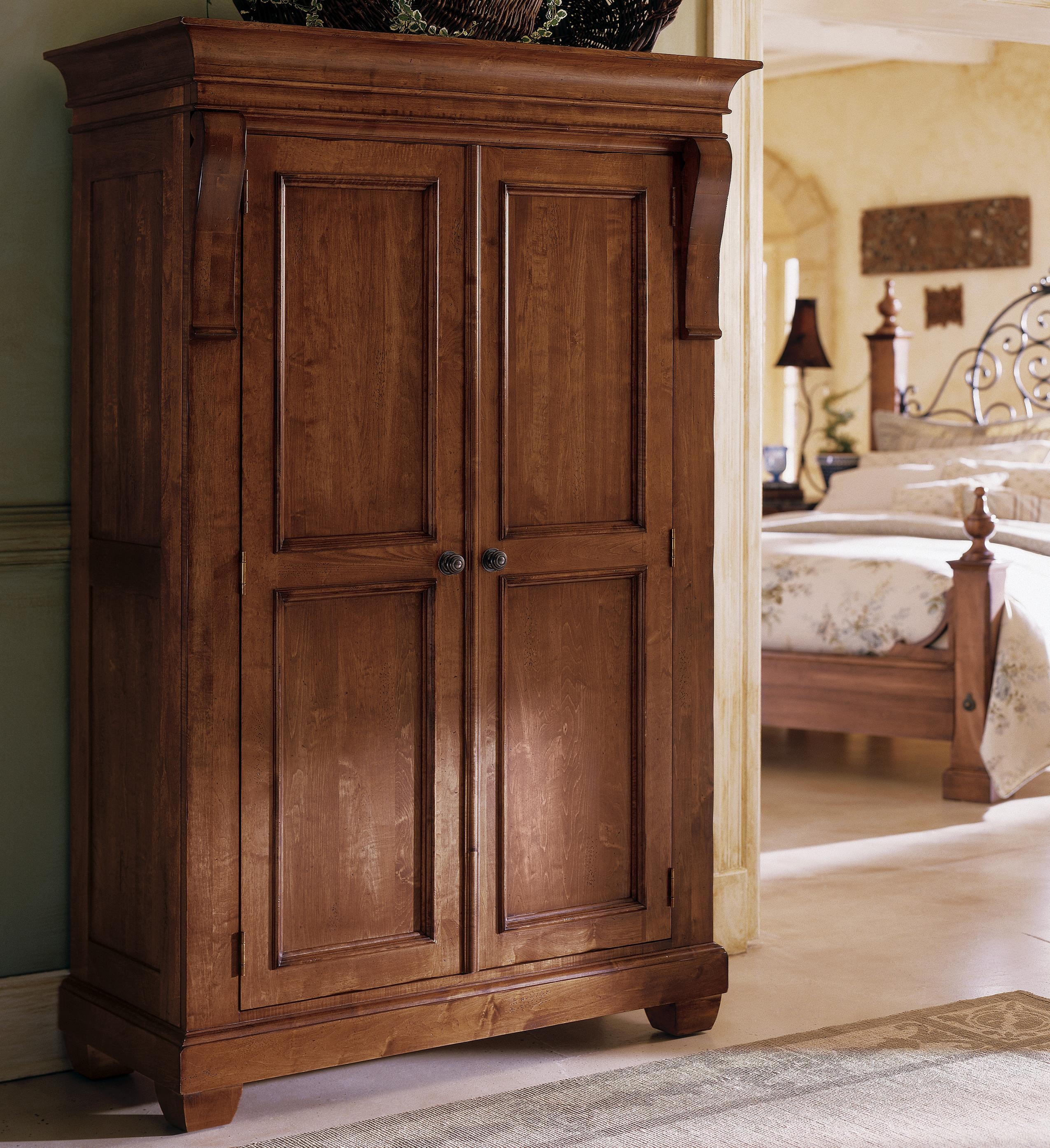 Furniture Fancy Wardrobe Armoire For Wardrobe Organizer Idea Pertaining To Solid Wood Wardrobe Closets (Image 11 of 25)