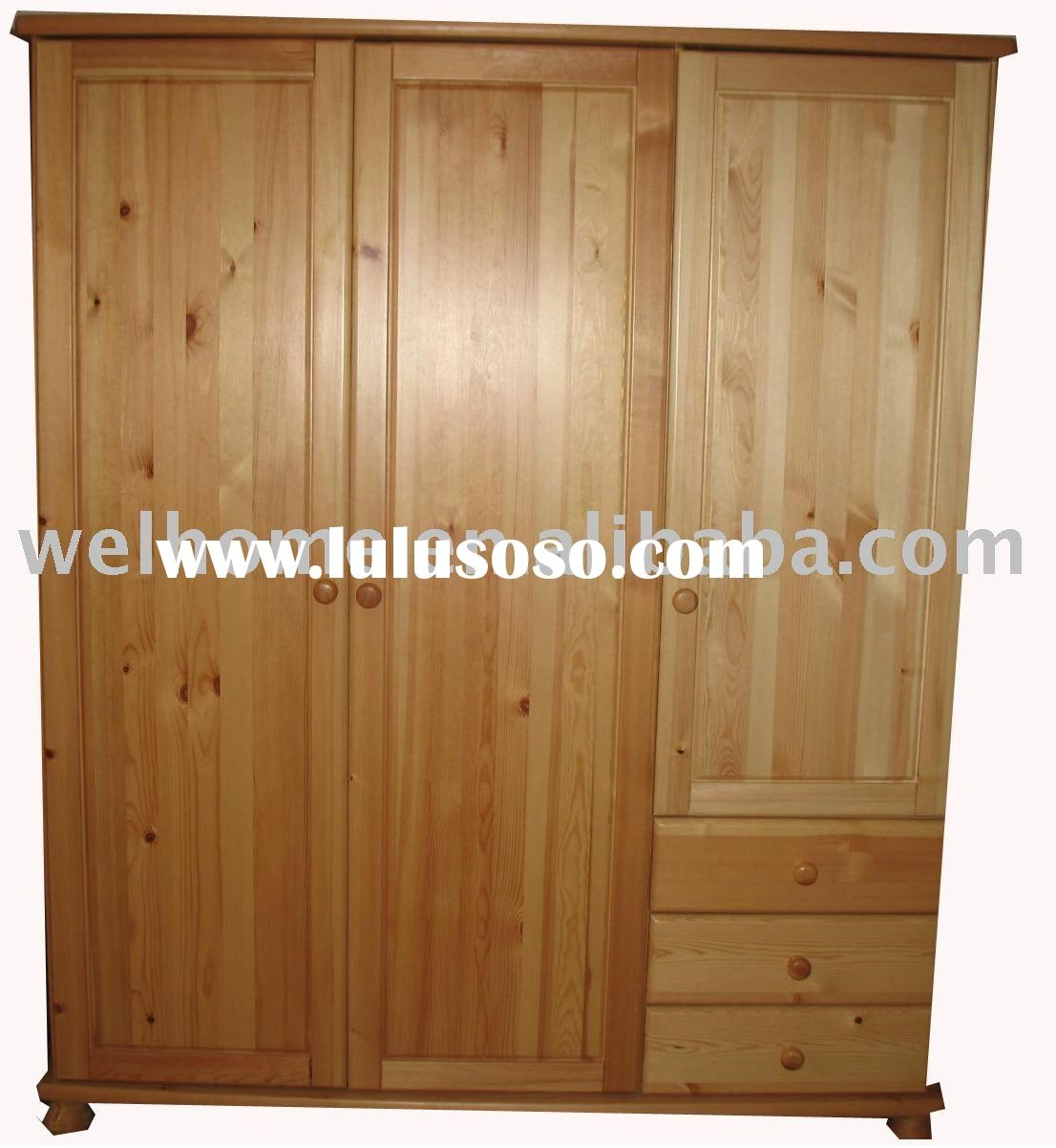 Furniture Fancy Wardrobe Armoire For Wardrobe Organizer Idea Throughout Solid Wood Wardrobe Closets (Image 12 of 25)