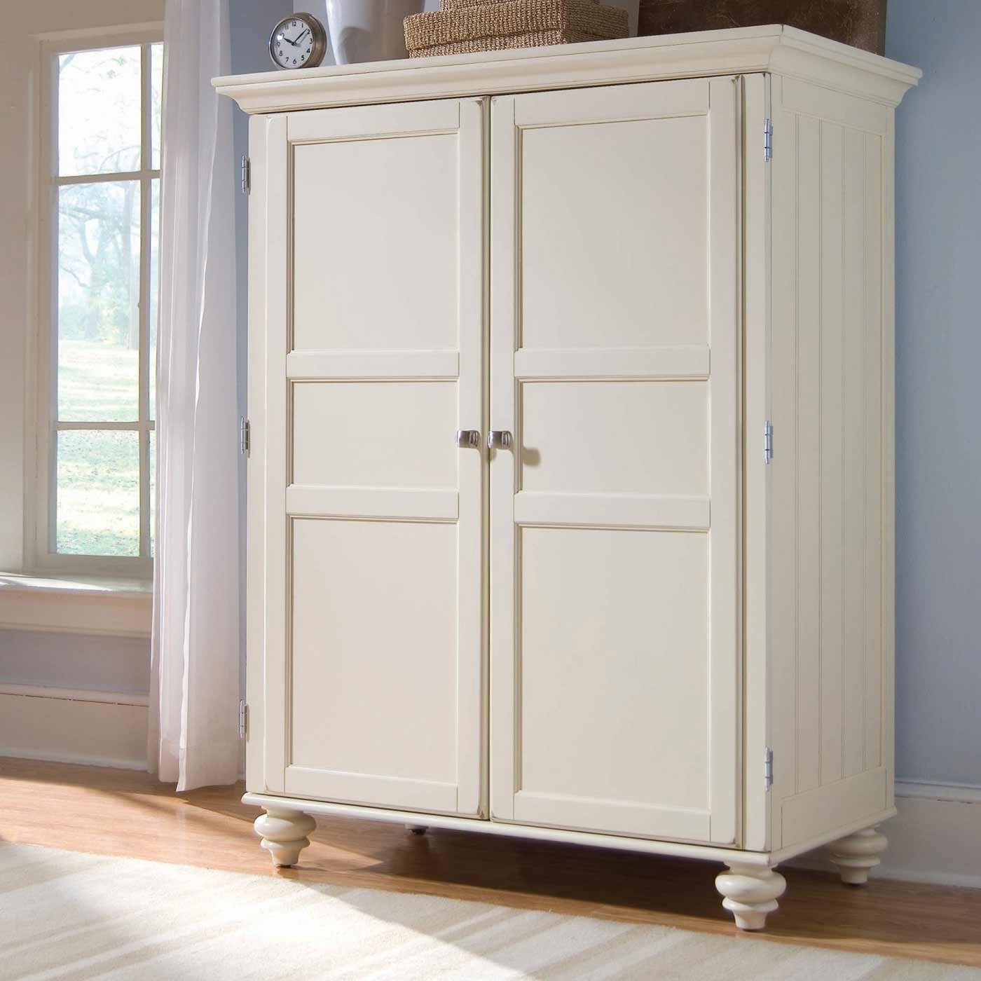Furniture Fancy Wardrobe Armoire For Wardrobe Organizer Idea Within White Wardrobe Armoire (Image 14 of 25)