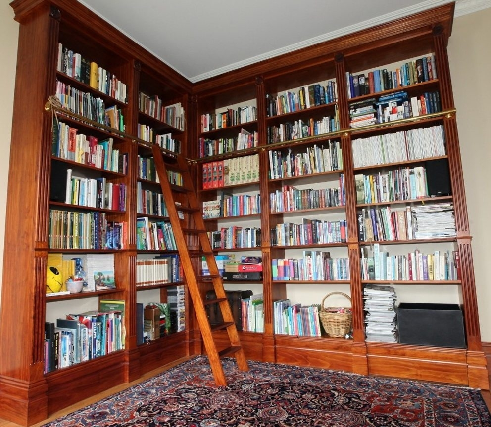Furniture Floor To Ceiling Bookshelves For Help You Organize And Regarding Bookshelf With Cabinet Base (Image 13 of 15)