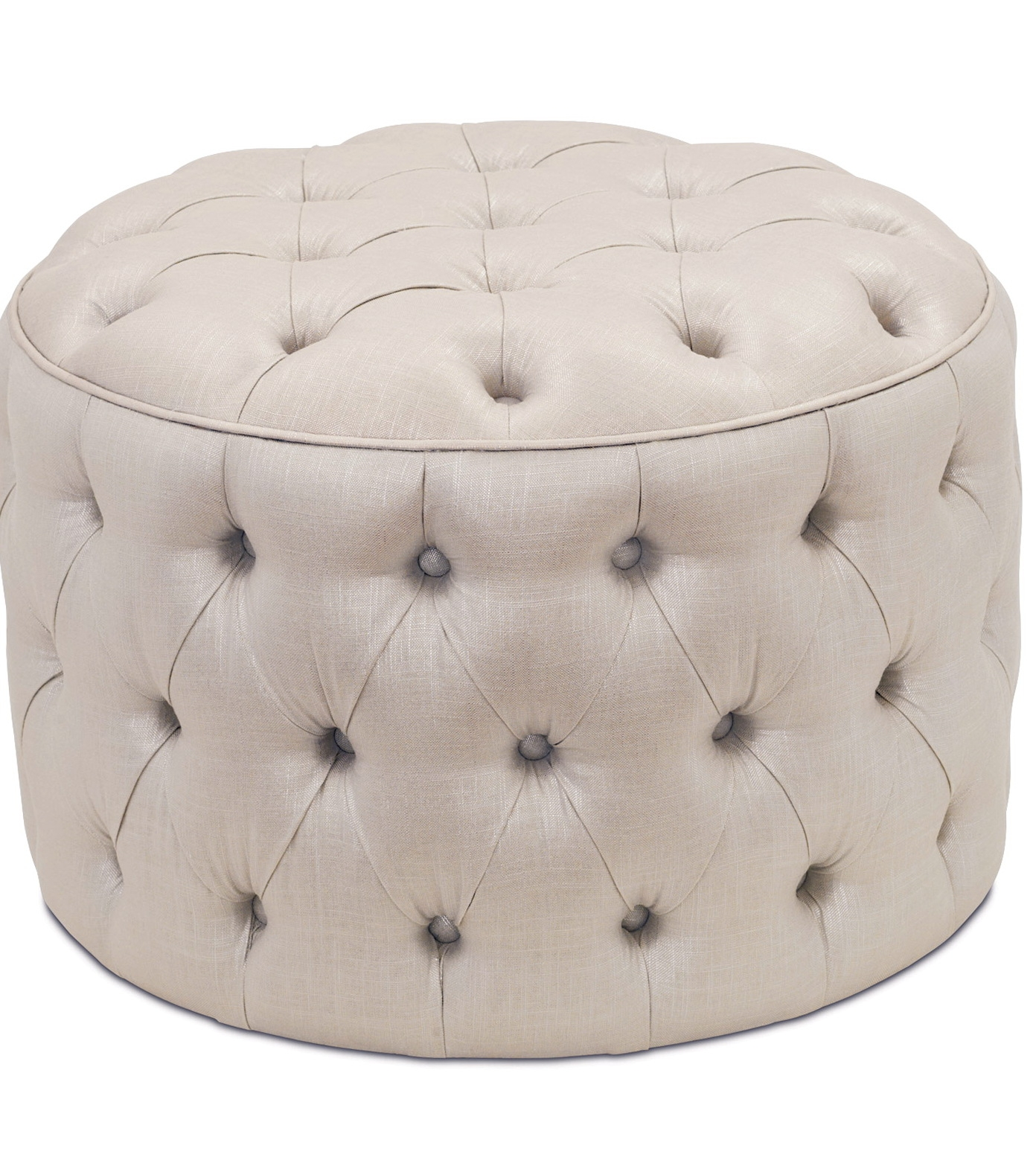 Furniture Luxury Round Tufted Ottoman For Home Furniture Ideas Intended For Small Footstools And Pouffes (View 15 of 15)
