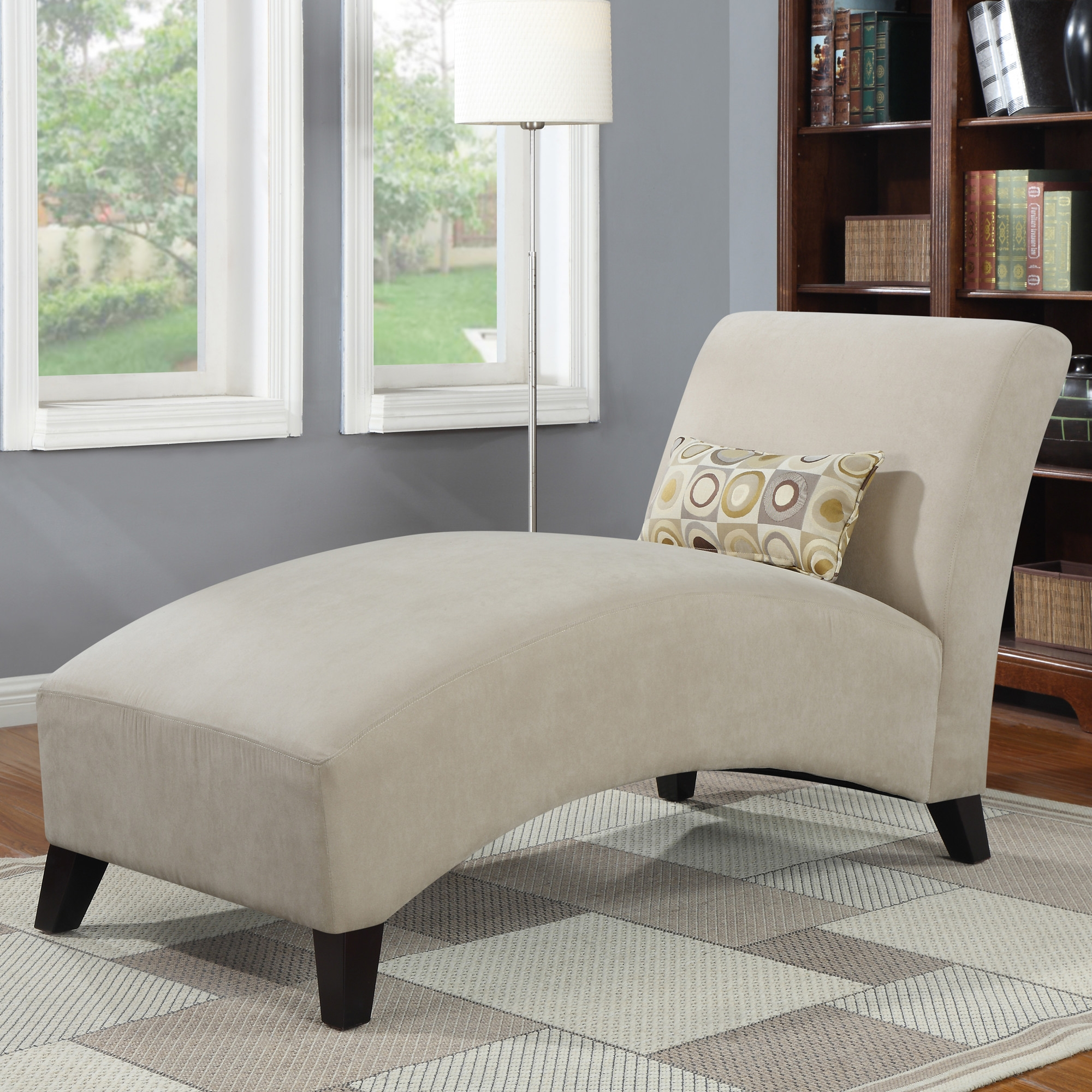 Furniture Microfiber Chaise Lounge For Comfortable Sofa Design With Regard To Bedroom Sofa Chairs (Image 10 of 15)