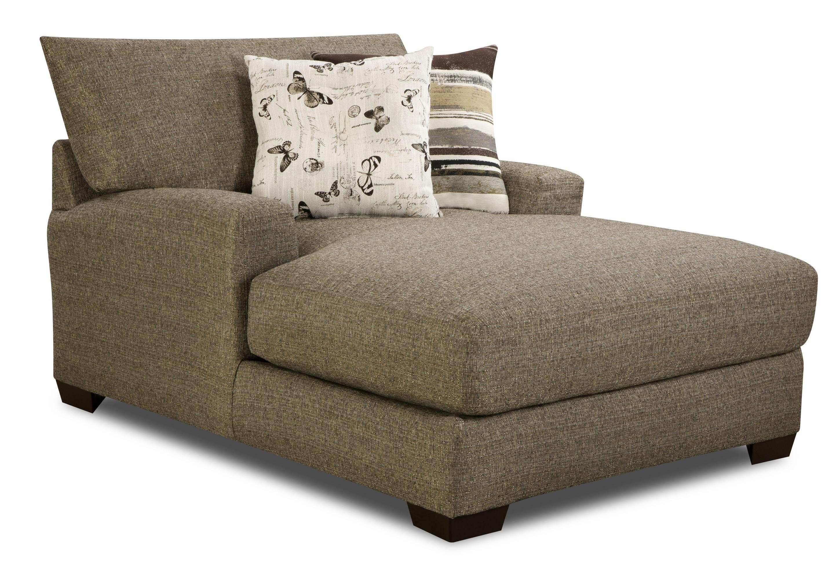 Furniture Microfiber Chaise Lounge For Comfortable Sofa Design With Wide Sofa Chairs (Image 4 of 15)