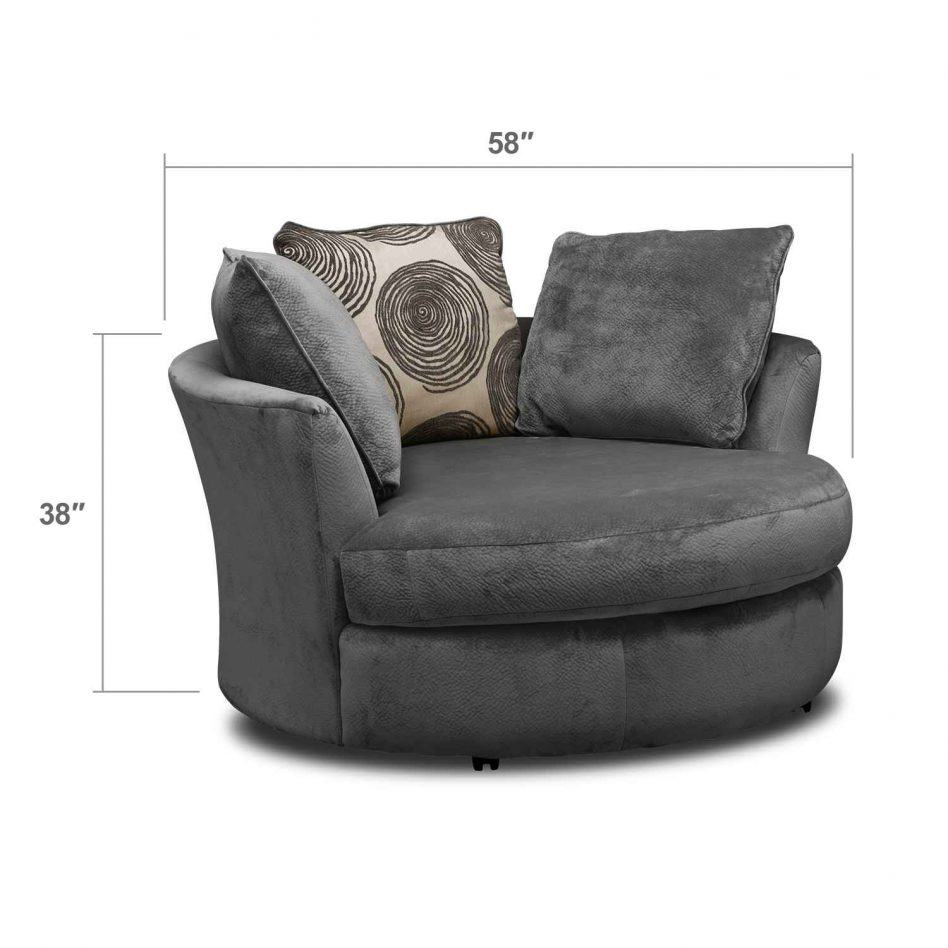 Furniture Outstanding Round Swivel Sofa Chair Round Sofa Chair In Circle Sofa Chairs (View 15 of 15)