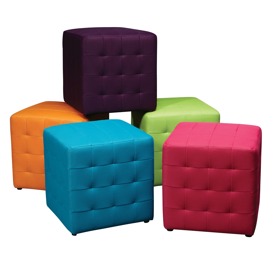 Furniture Storage Ottoman Cube Ideas That Will Bring A Statement Within Fabric Footstools (Image 4 of 15)