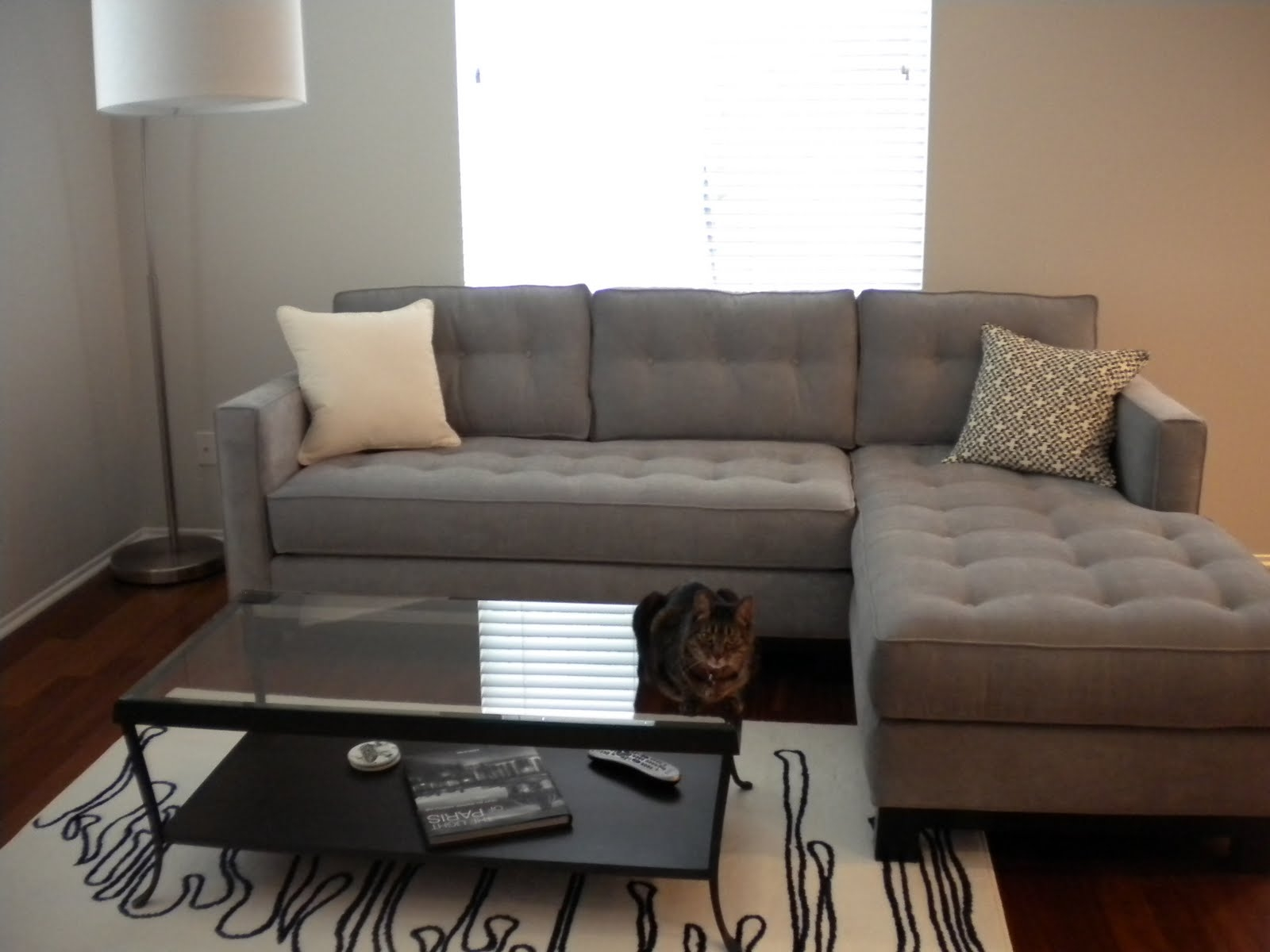 Furniture Superb Gray Velvet Sectional Sofa For Elegant Comfy Within Comfy Floor Seating (Image 7 of 15)