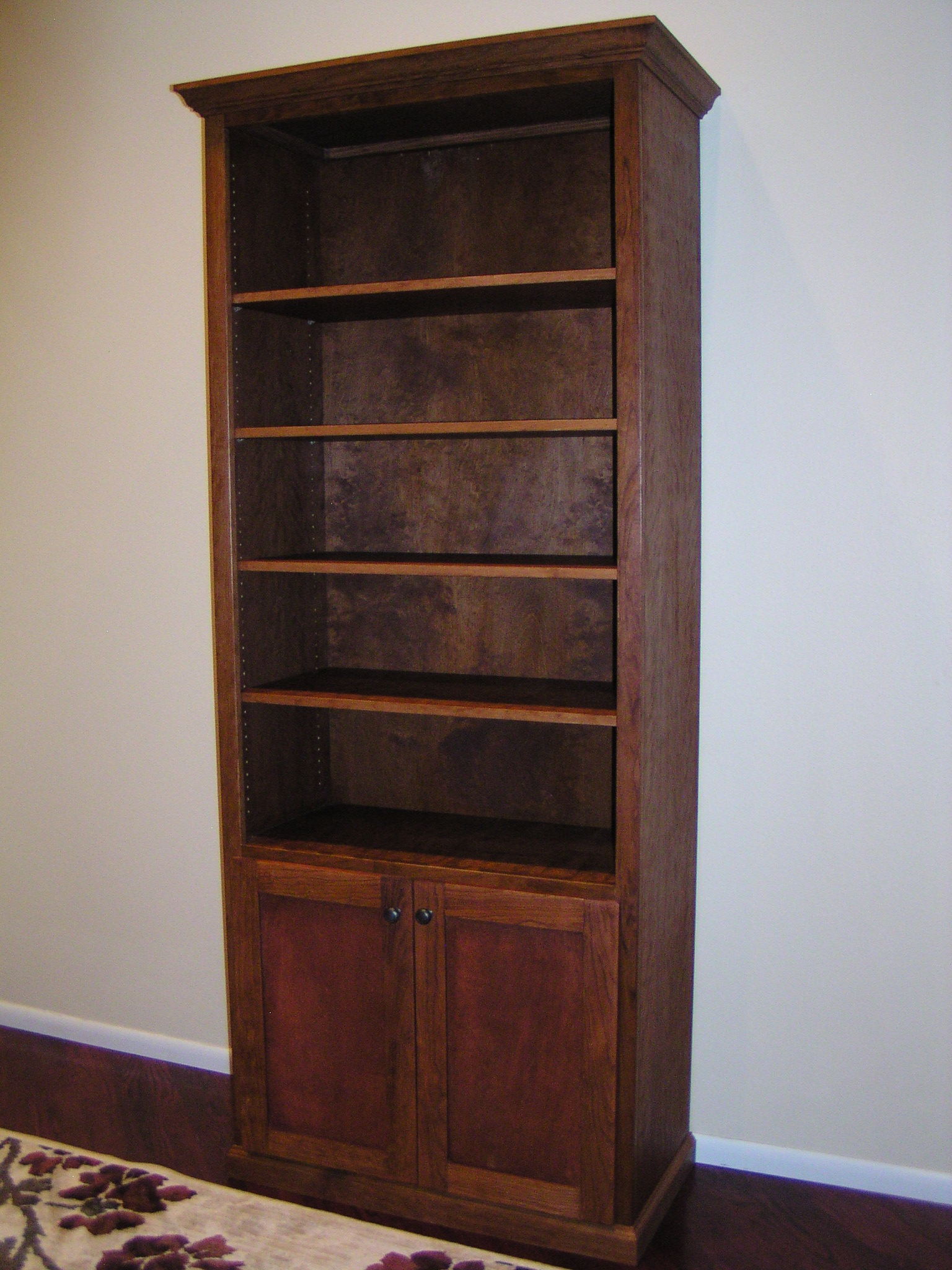 Furniture Twisted Oak Custom Woodworks Intended For Bookcase With Cabinet Base (View 9 of 15)