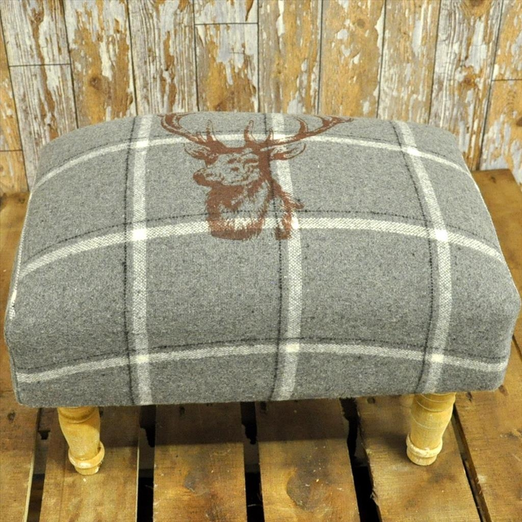 Furniture Up Your Legs Onfabric Footstools Latest Fabric Inside Fabric Footstools And Pouffes (Image 8 of 15)