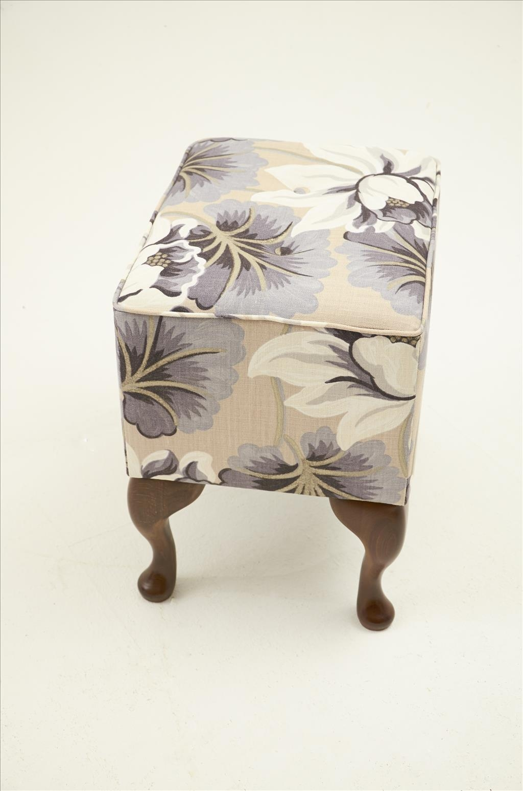 Furniture Up Your Legs Onfabric Footstools Small Padded Footstool Intended For Small Footstools And Pouffes (Image 5 of 15)