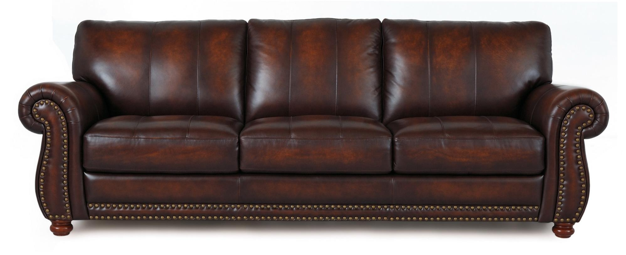 Futura Leather Futura Leather Traditional Leather Sofa With Regarding Traditional Leather Couch (Image 5 of 15)