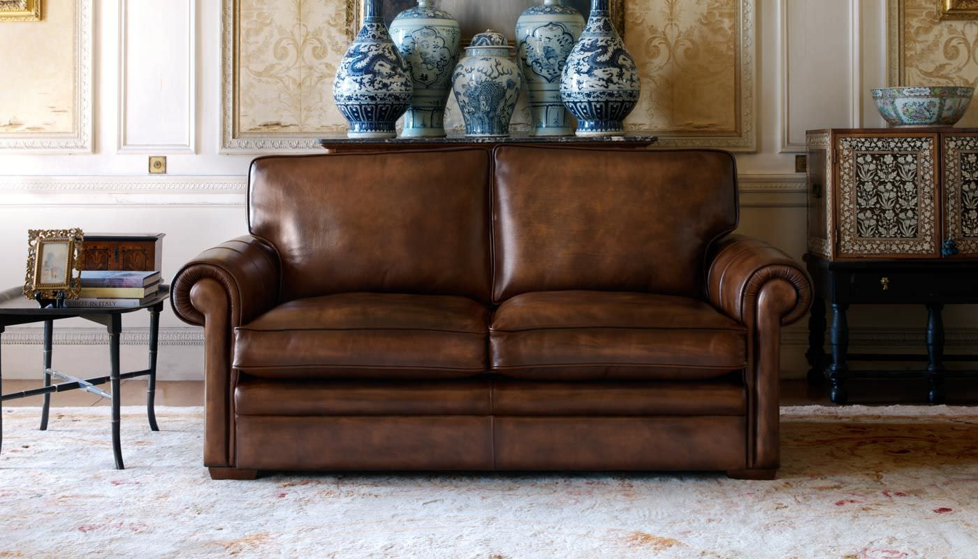 Futura Leather Traditional Sofa With Within Traditional Leather With Traditional Leather Couch (Image 6 of 15)