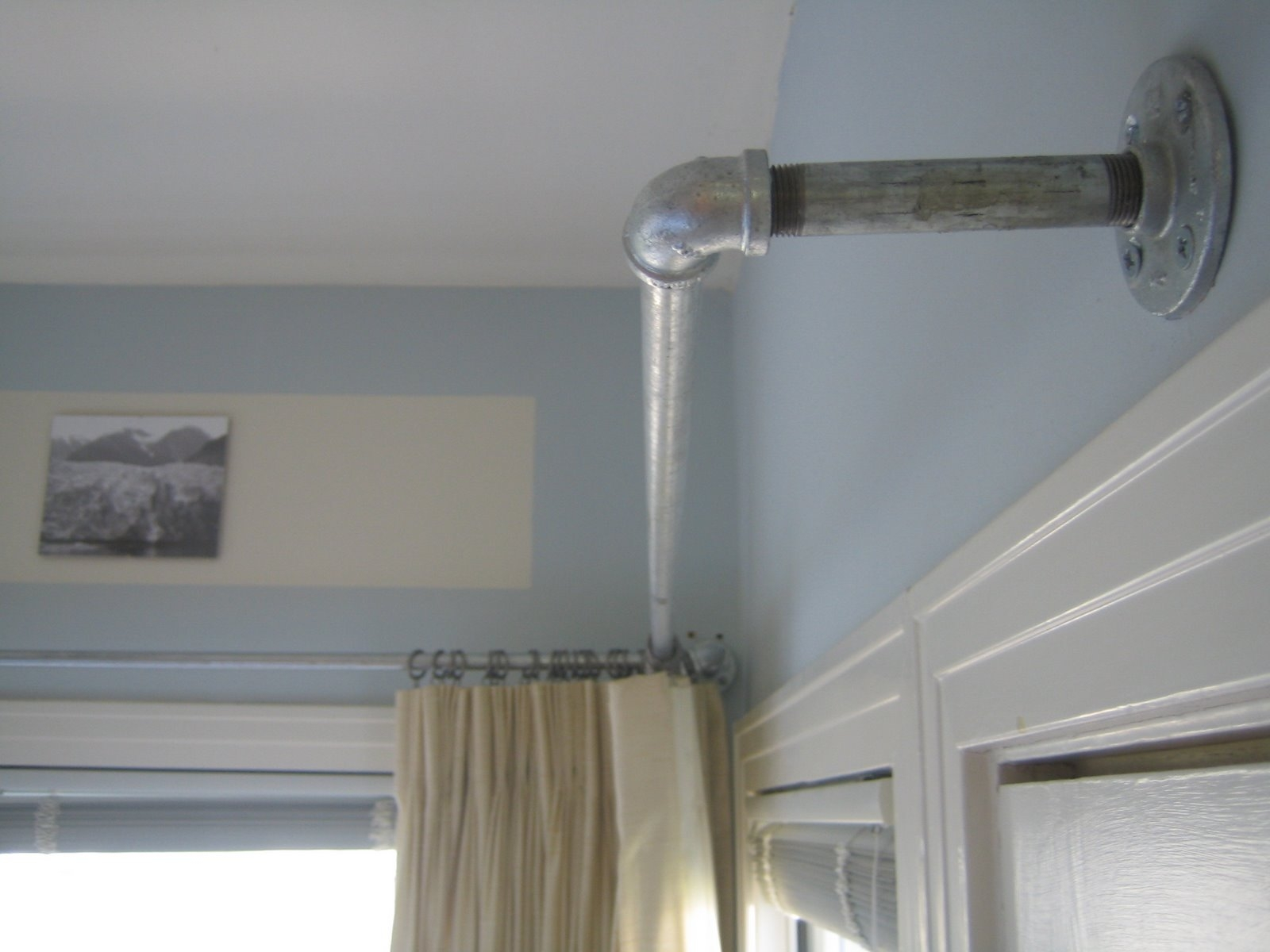 Galvanized Pipe Curtain Rods Could Be Used For Curtains For Closet Inside L Curtain Rods (Image 9 of 25)