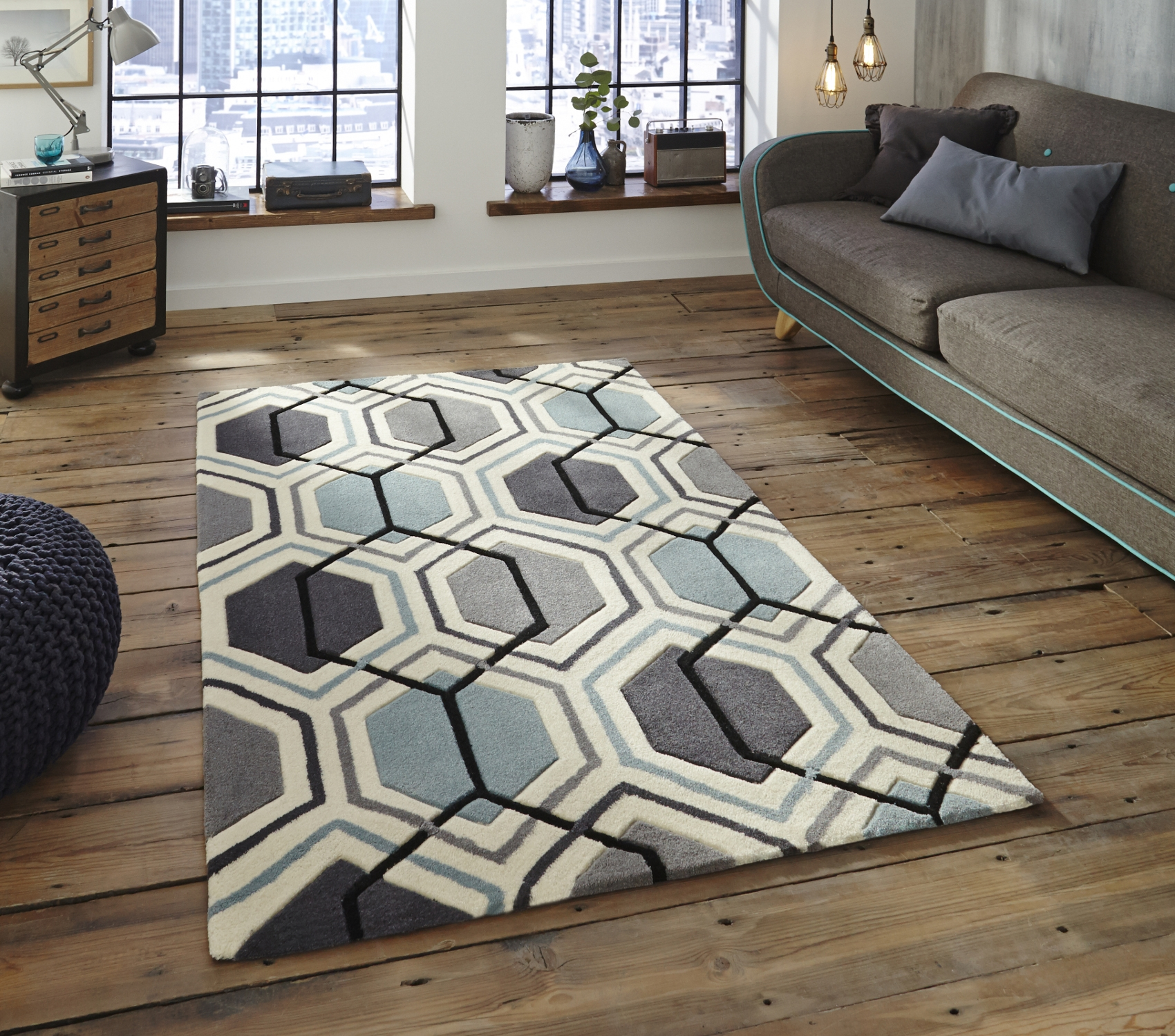 Geometric Design Rug Roselawnlutheran With Regard To Large Geometric Rugs (View 9 of 15)