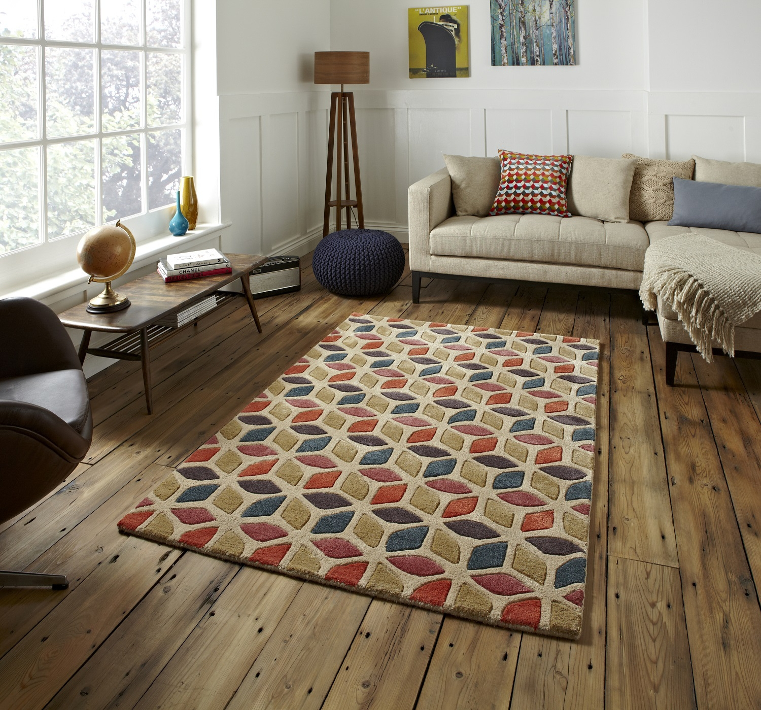 Geometric Design Rug Roselawnlutheran Within Large Geometric Rugs (View 8 of 15)