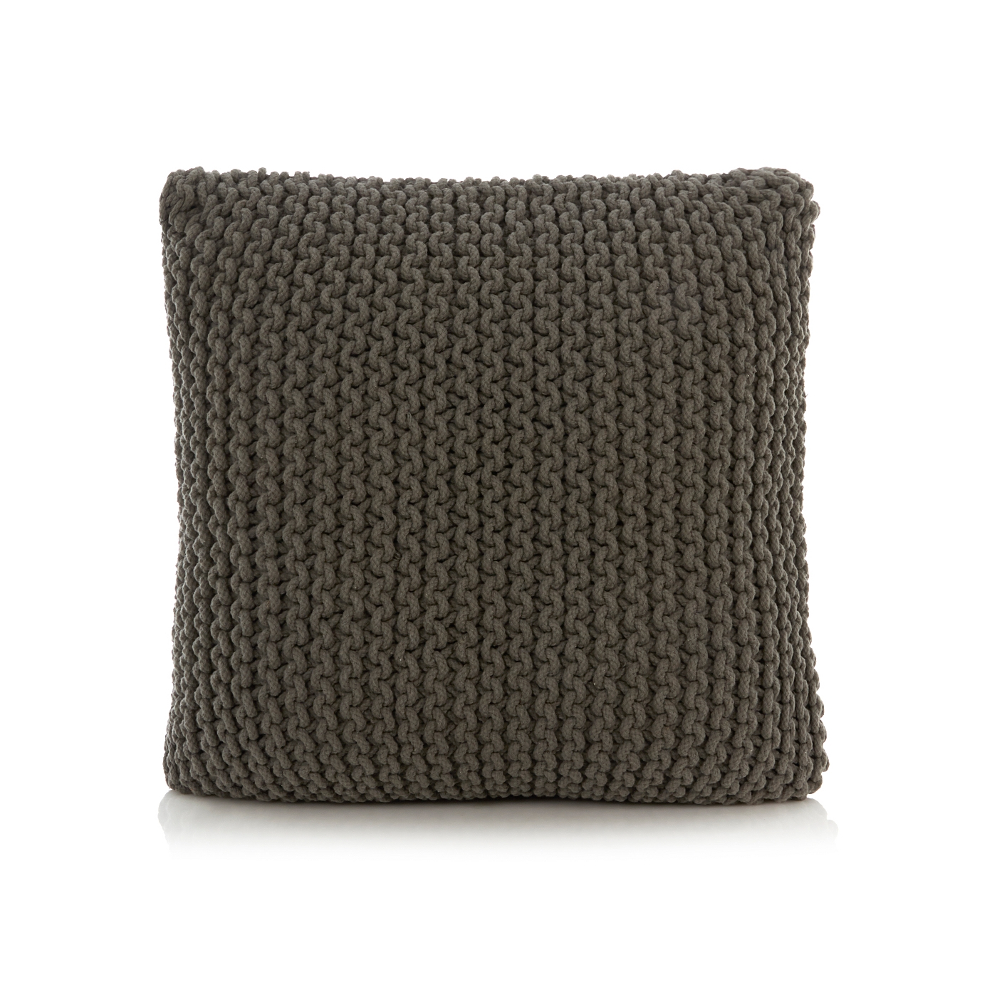 George Home Large Knitted Square Pouffe Cushion Footstools For Tesco Footstools And Pouffes (Image 8 of 15)
