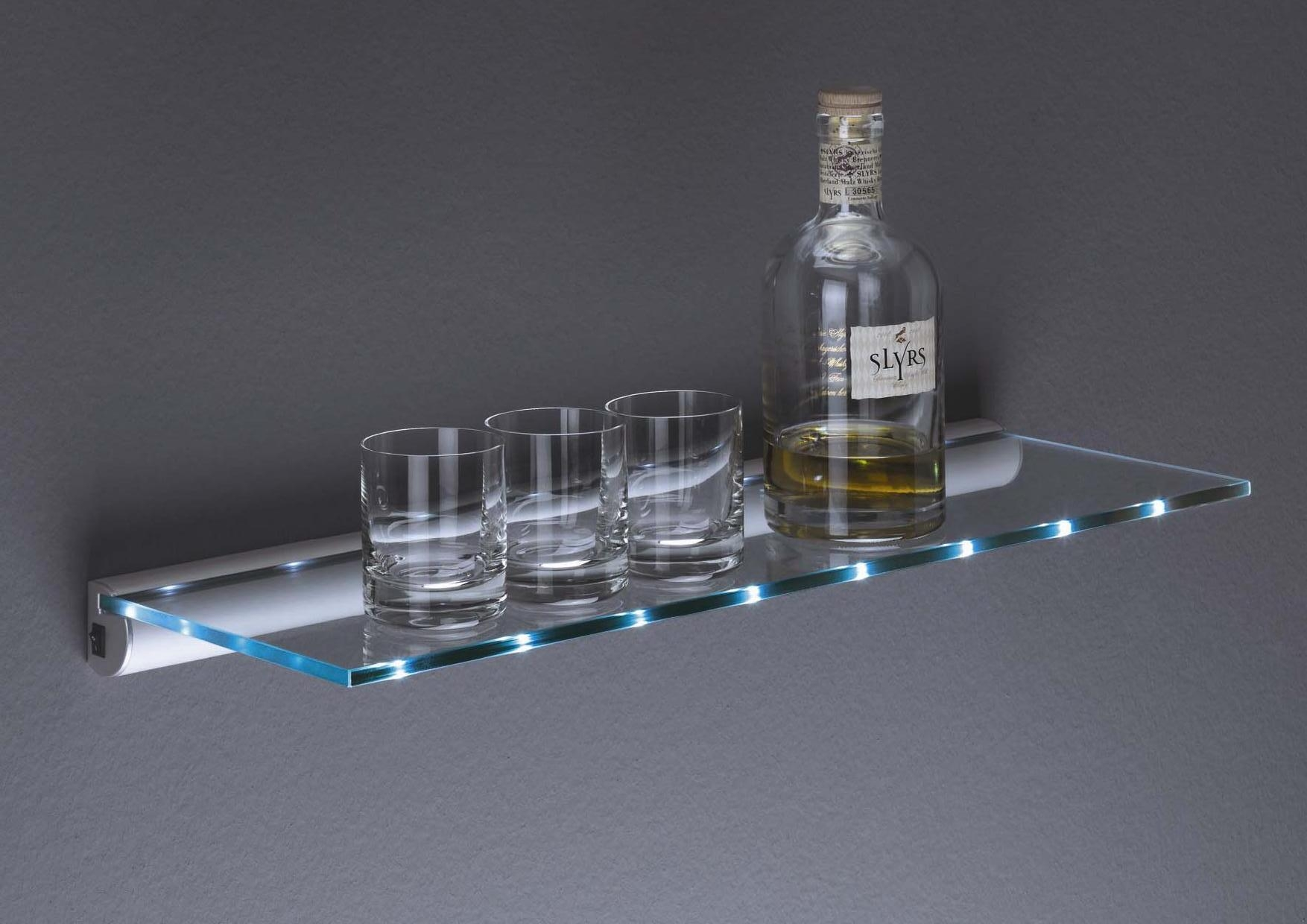 Glass Floating Shelves Lot 2 Sonia Tecno Project Floating Glass Throughout Led Floating Shelves (Photo 9 of 15)