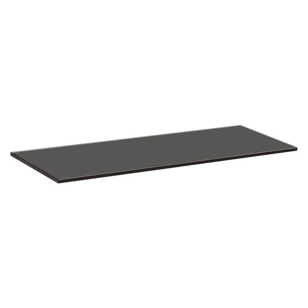 Glass Floating Shelves Shelves Shelf Brackets Storage Pertaining To Black Glass Floating Shelf (Image 11 of 15)