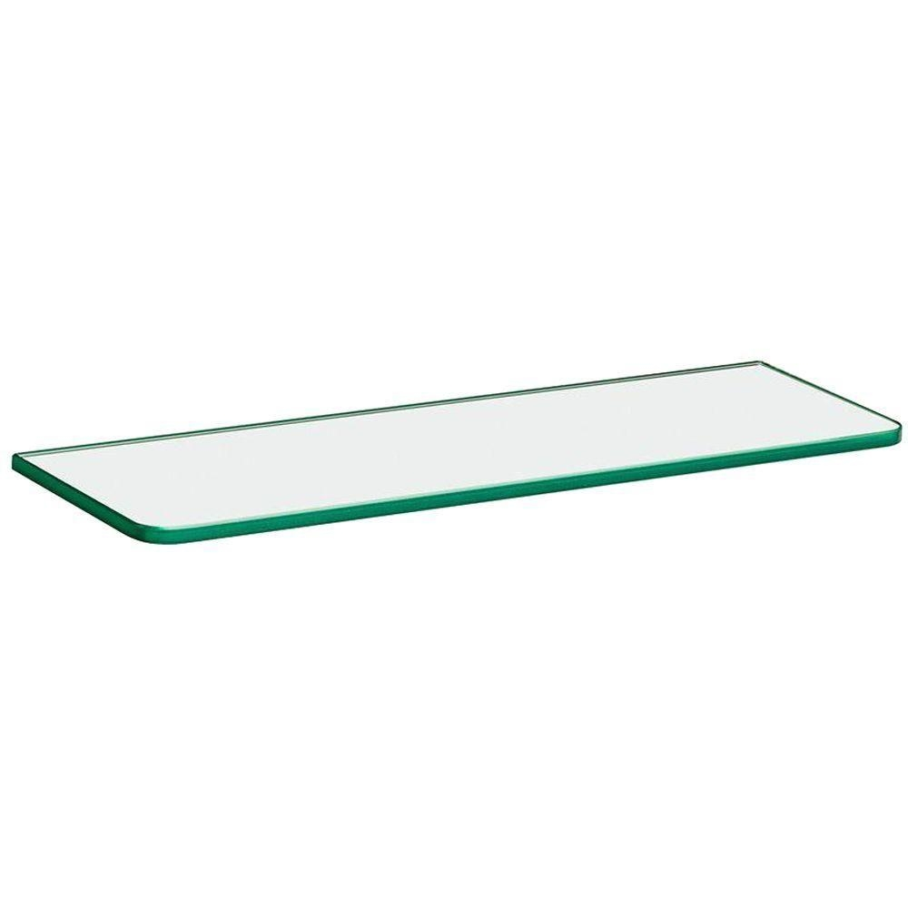 Glass Floating Shelves Shelves Shelf Brackets Storage Within Clear Glass Floating Shelves (Image 15 of 15)