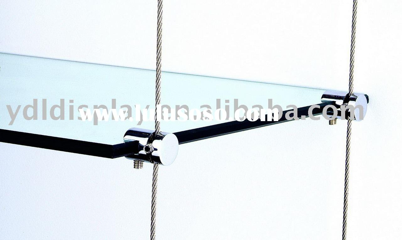 Glass Shelf Brackets Floating On Air For Glass Suspension Shelves (Image 4 of 15)