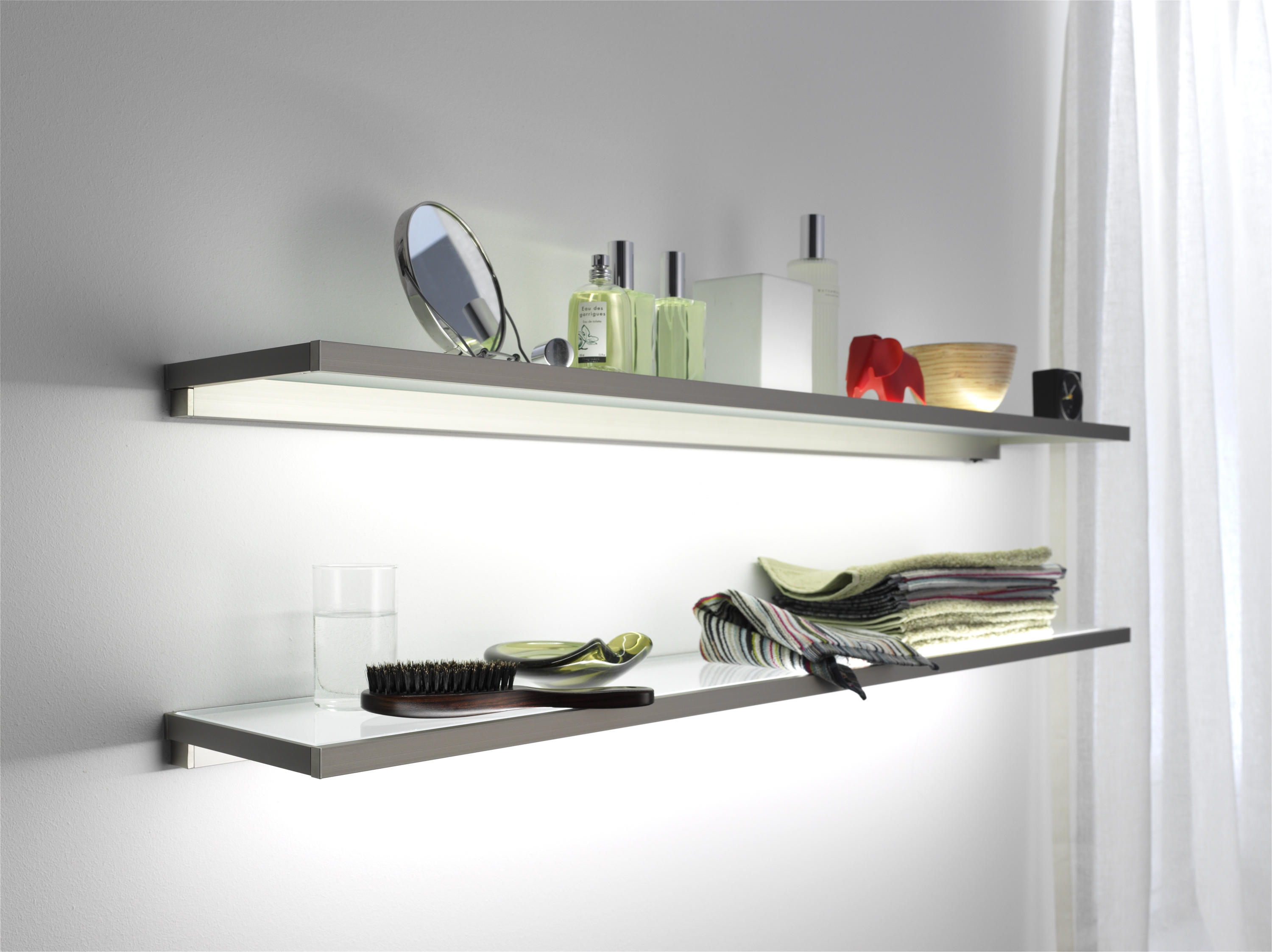 Glass Shelf Gera Light System 4 Illuminated Shelving From Gera In Illuminated Glass Shelf (Image 4 of 15)